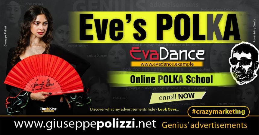 giuseppe polizzi Polka advertising Eva Crazy Marketing  2021