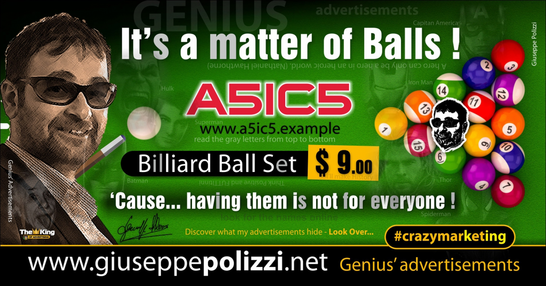 giuseppe Polizzi It is a matter of Balls crazymarketing genius ing