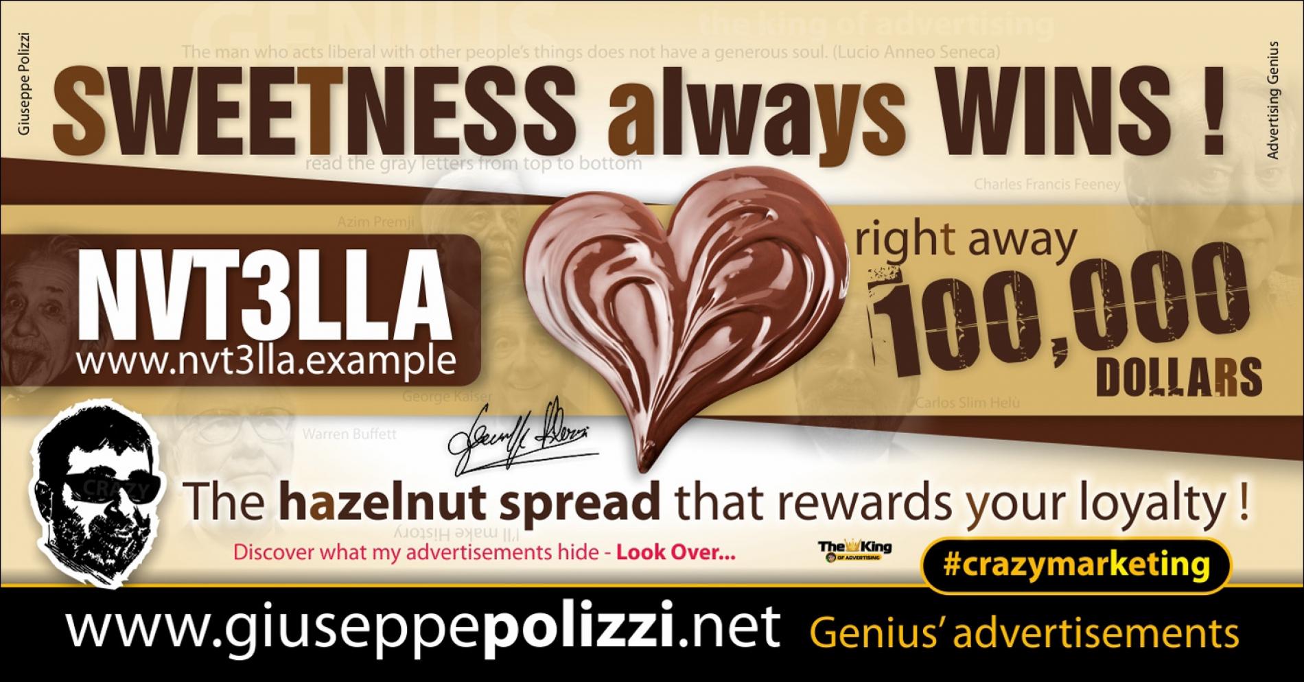 giuseppe polizzi advertisement SWEETNESS always WINS  crazy marketing genius  2017