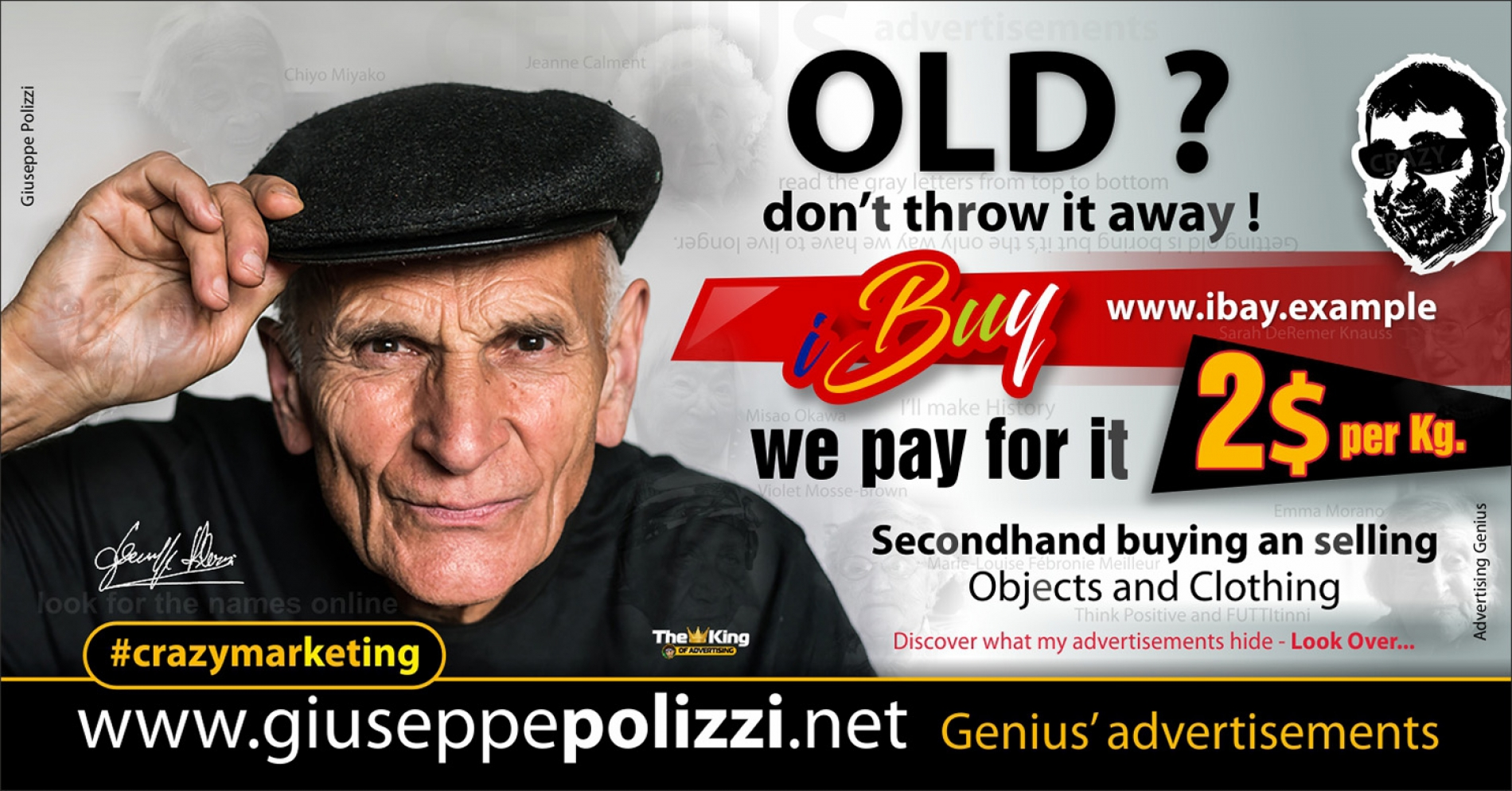 giuseppe polizzi crazymarketing OLD genius advertisements