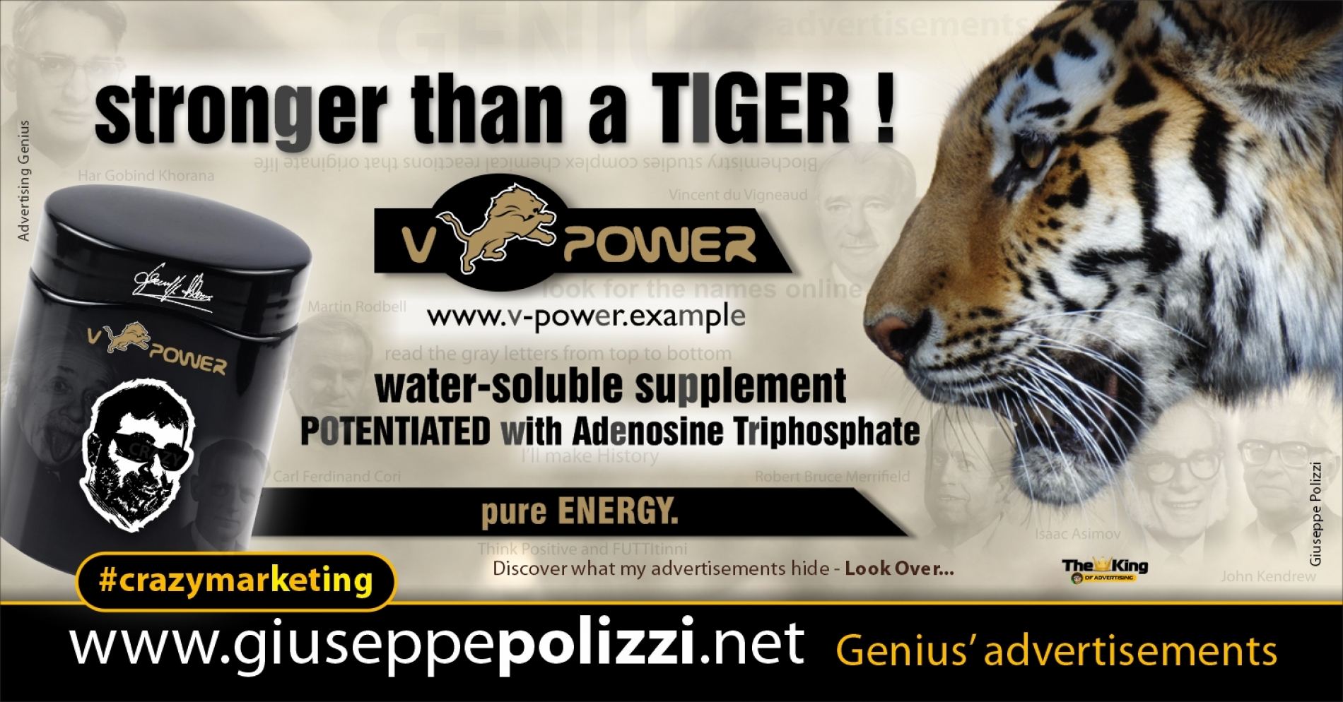 Giuseppe Polizzi Crazymarketing stronger than a tiger advertisements