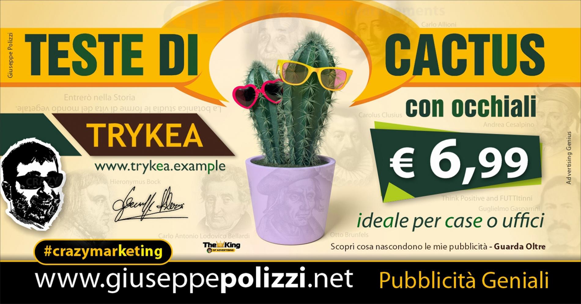 Giuseppe Polizzi Crazymarketing Teste di Cactus pubblicità geniali