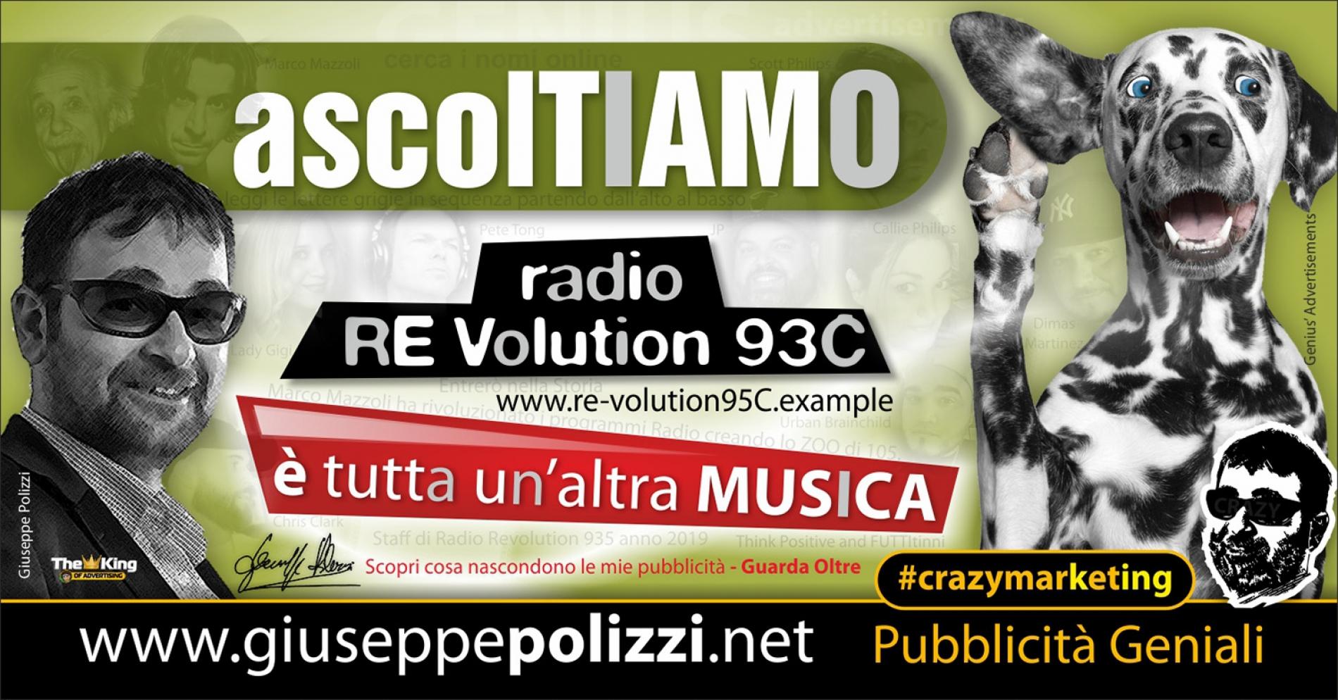giuseppe Polizzi crazymarketing ascolTIAMO pubblicità geniali