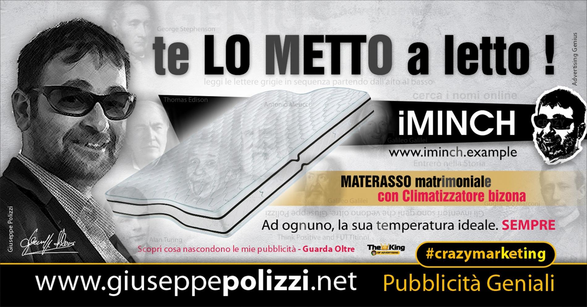 Giuseppe Polizzi Crazymarketing Te Lo metto a Letto pubblicità geniali