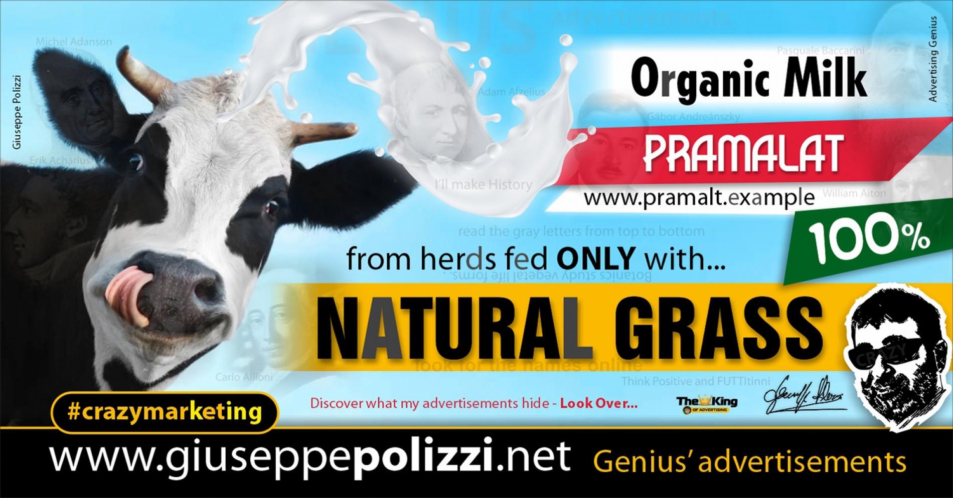 giuseppe polizzi Advertising NATURAL GRASS Crazy Marketing  2021