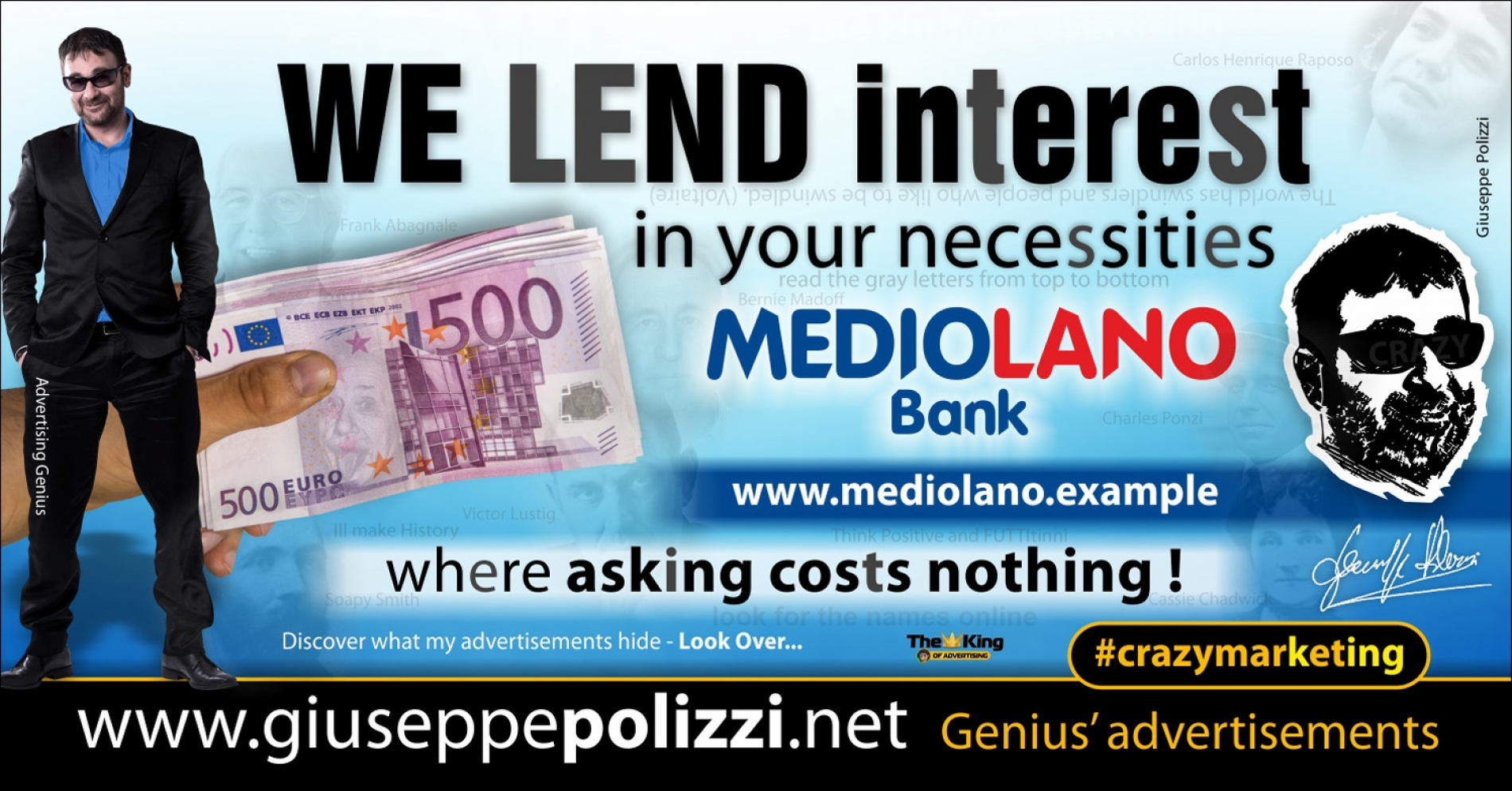 giuseppe Polizzi WE LEND crazymarketing pubblicita geniali