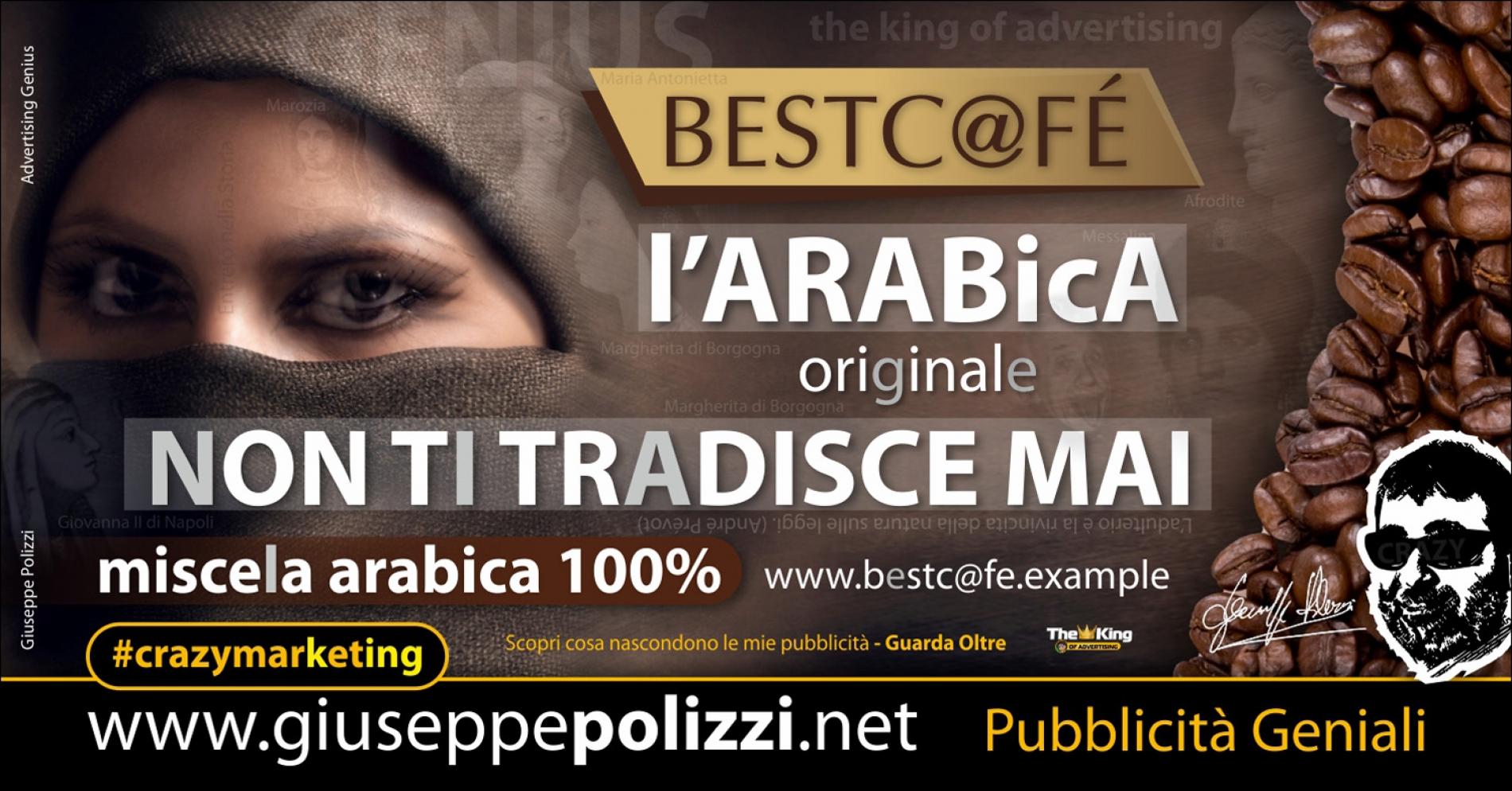 giuseppe Polizzi pubblicita ARABICA crazymarketing genius