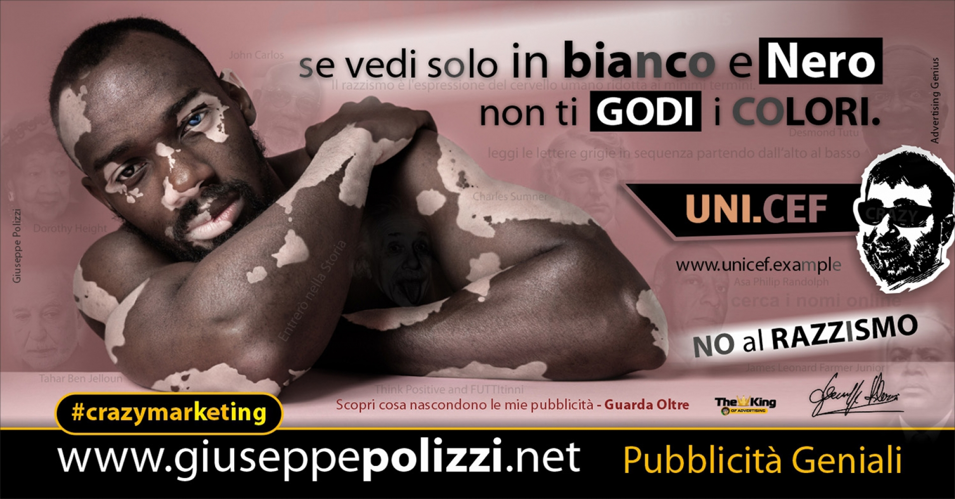 Giuseppe Polizzi crazymarketing RAZZISMO pubblicità geniali