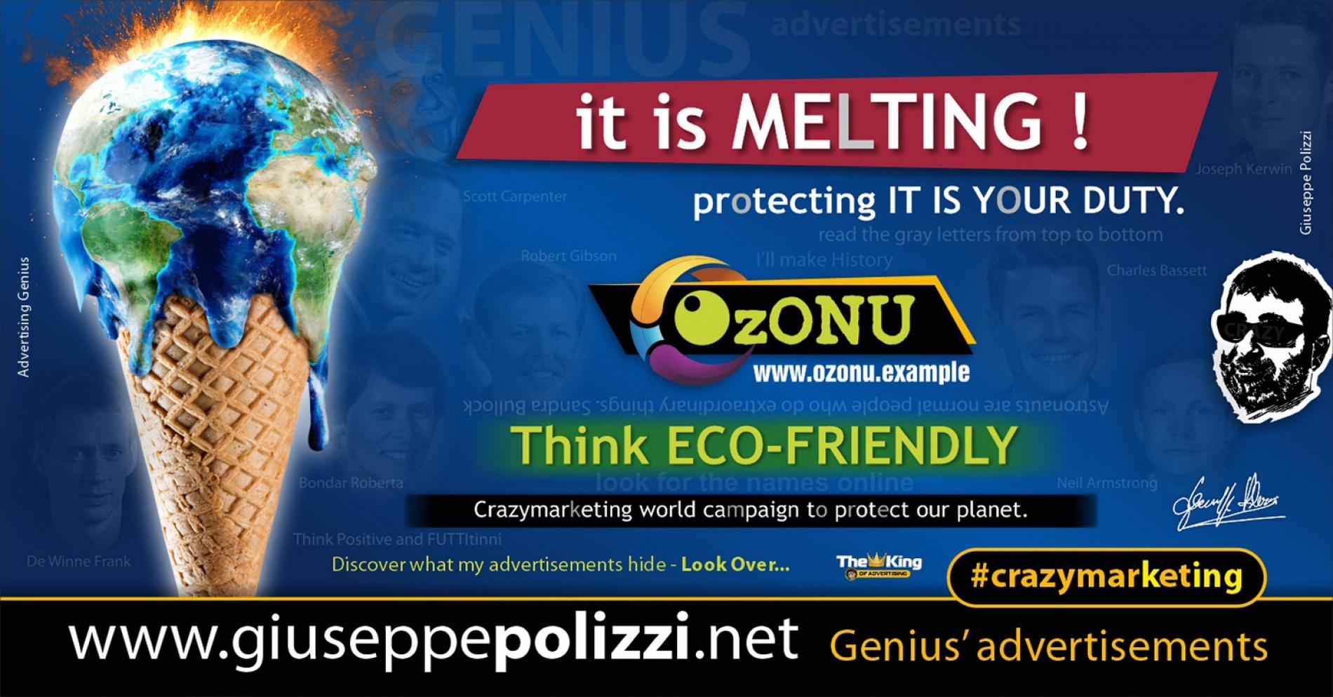 Giuseppe Polizzi Crazymarketing  Think ECO FRIENDLY advertisements