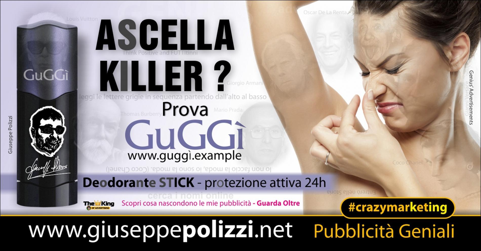 giuseppe Polizzi Ascella KILLER crazymarketing pubblicita geniali