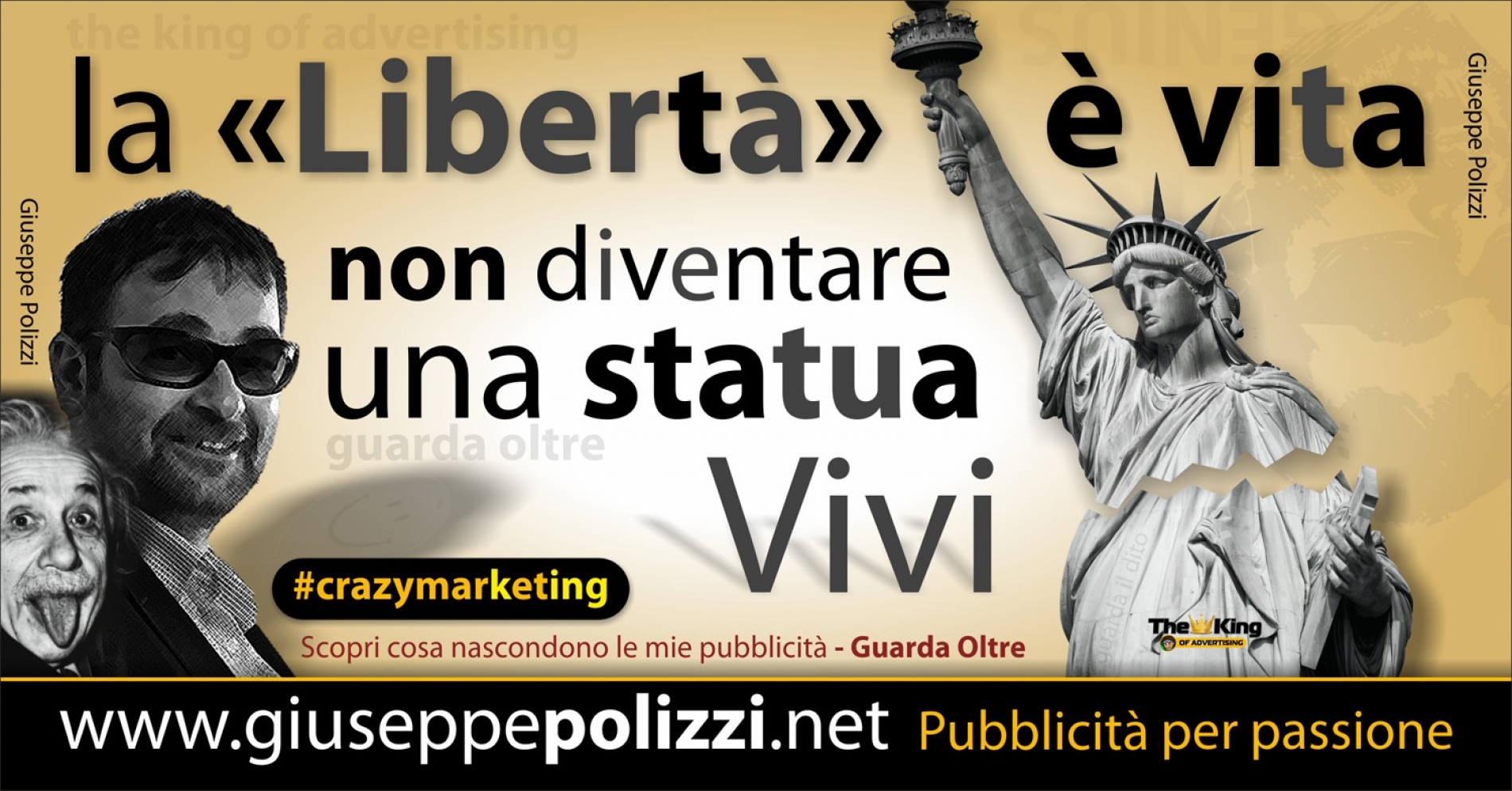 giuseppe polizzi crazy marketing pubblicità 2016 crazy marketing statua liberta