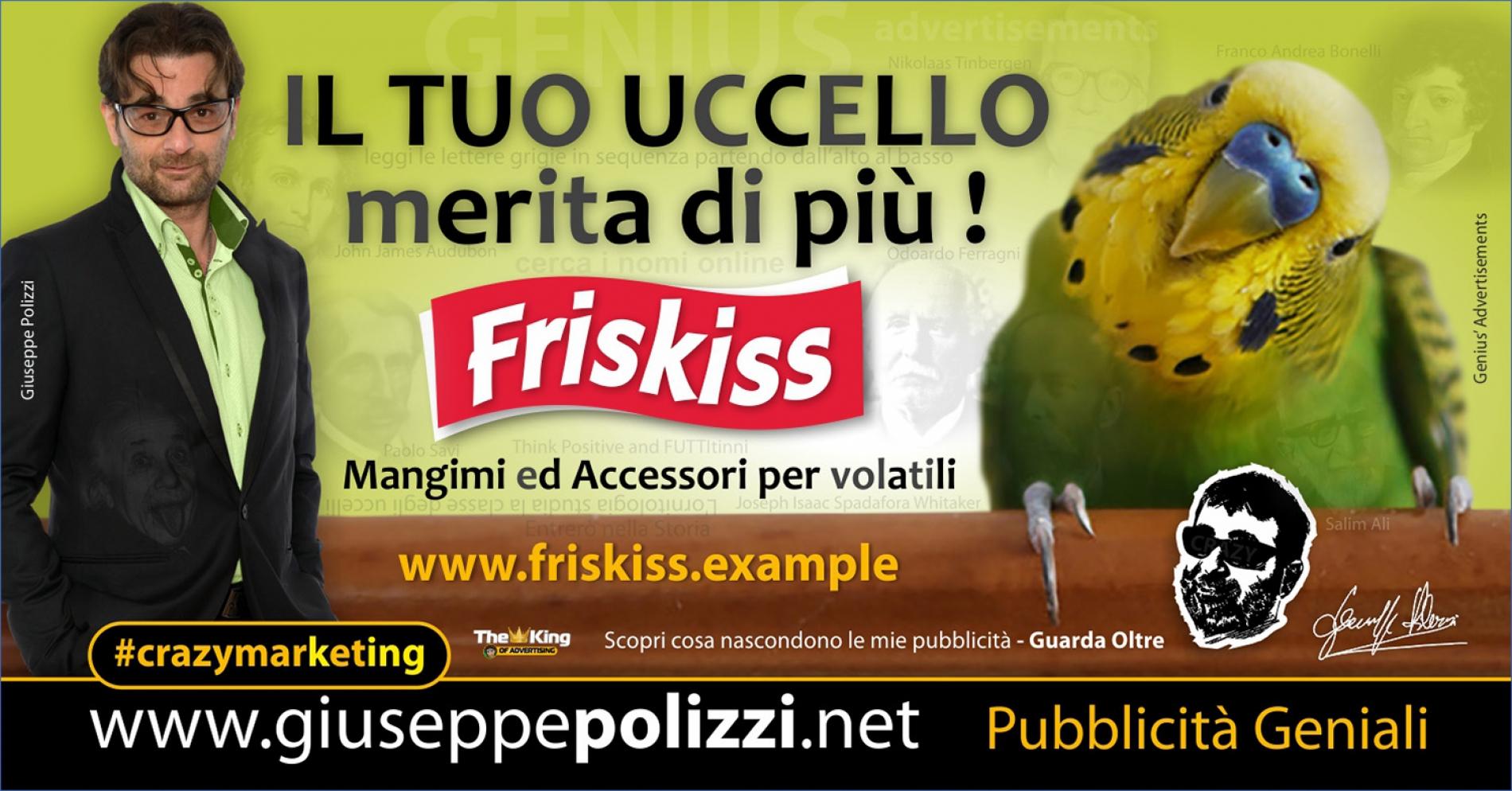 giuseppe Polizzi crazymarketing Il Tuo Uccello  pubblicità geniali