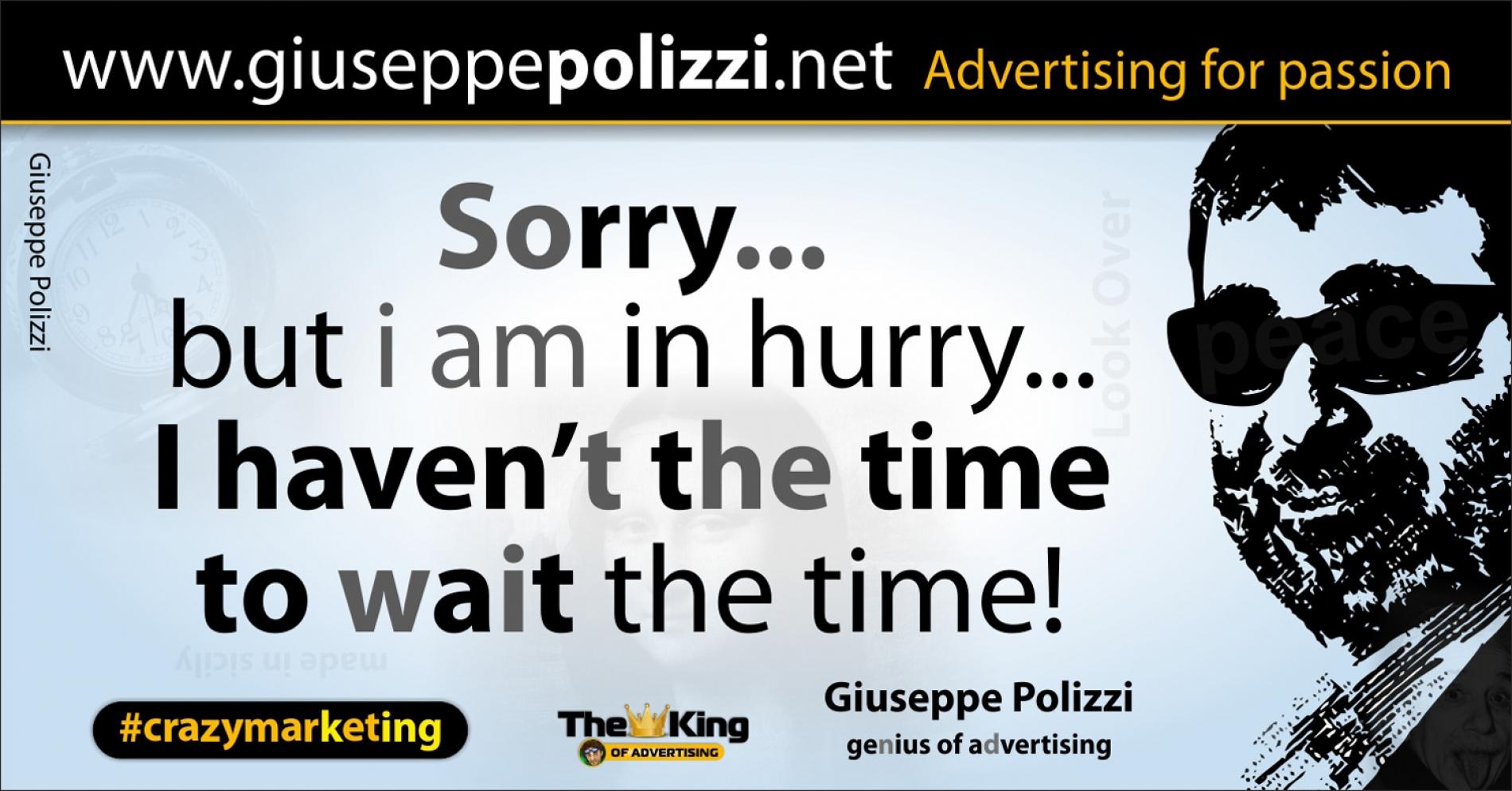 giuseppe polizzi aforismi tempo time 2016 crazymarketing inglese