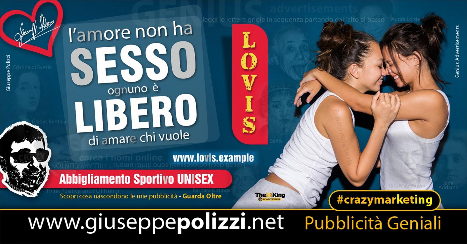 Giuseppe Polizzi crazymarketing SESSO LIBERO pubblicità geniali