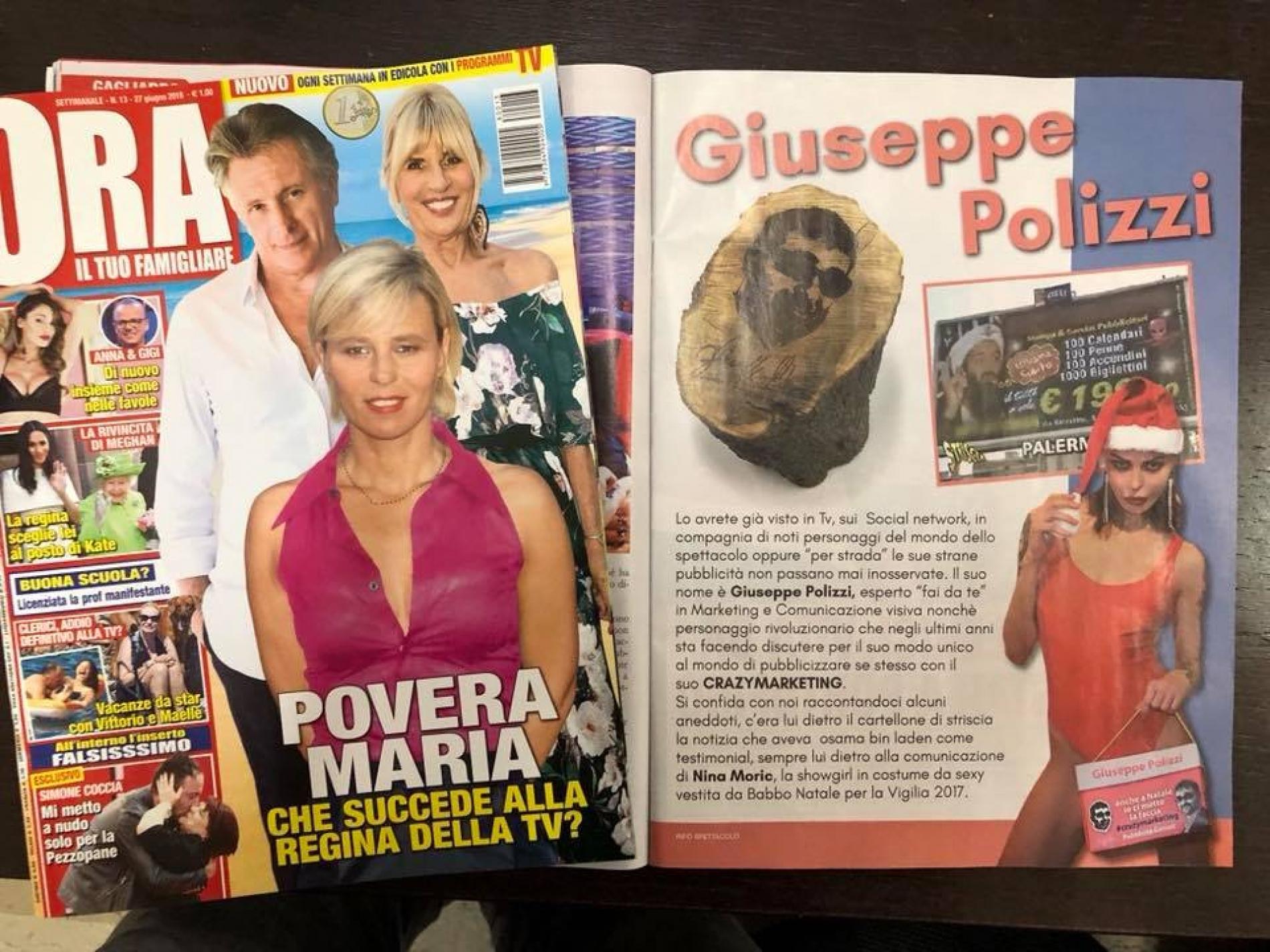 striscia la notizia Nina Moric e  Giuseppe Polizzi Crazymarketing pubblicita geniali