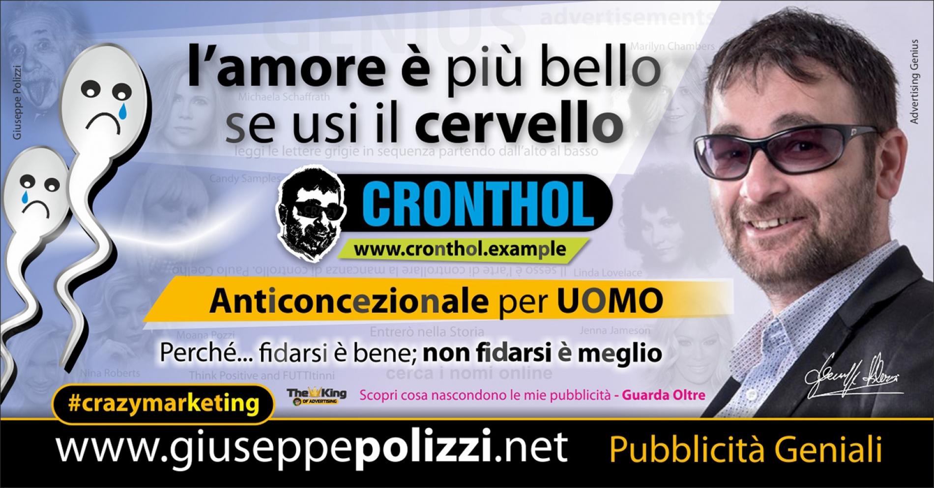 Giuseppe Polizzi crazymarketing Anticoncezionale Uomo pubblicità geniali
