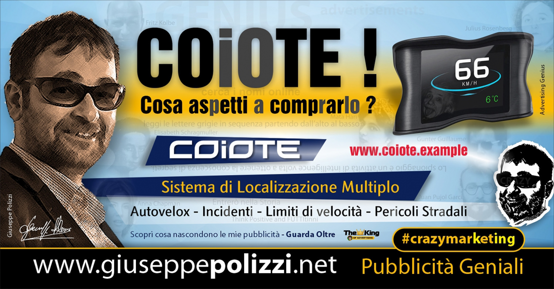 Giuseppe Polizzi Crazymarketing COIOTE Pubblicità geniali