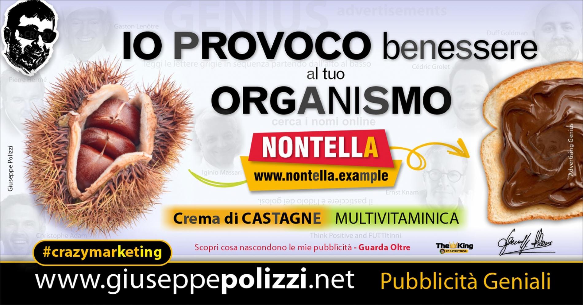 Giuseppe Polizzi crazymarketing IO PROVOCO pubblicità geniali