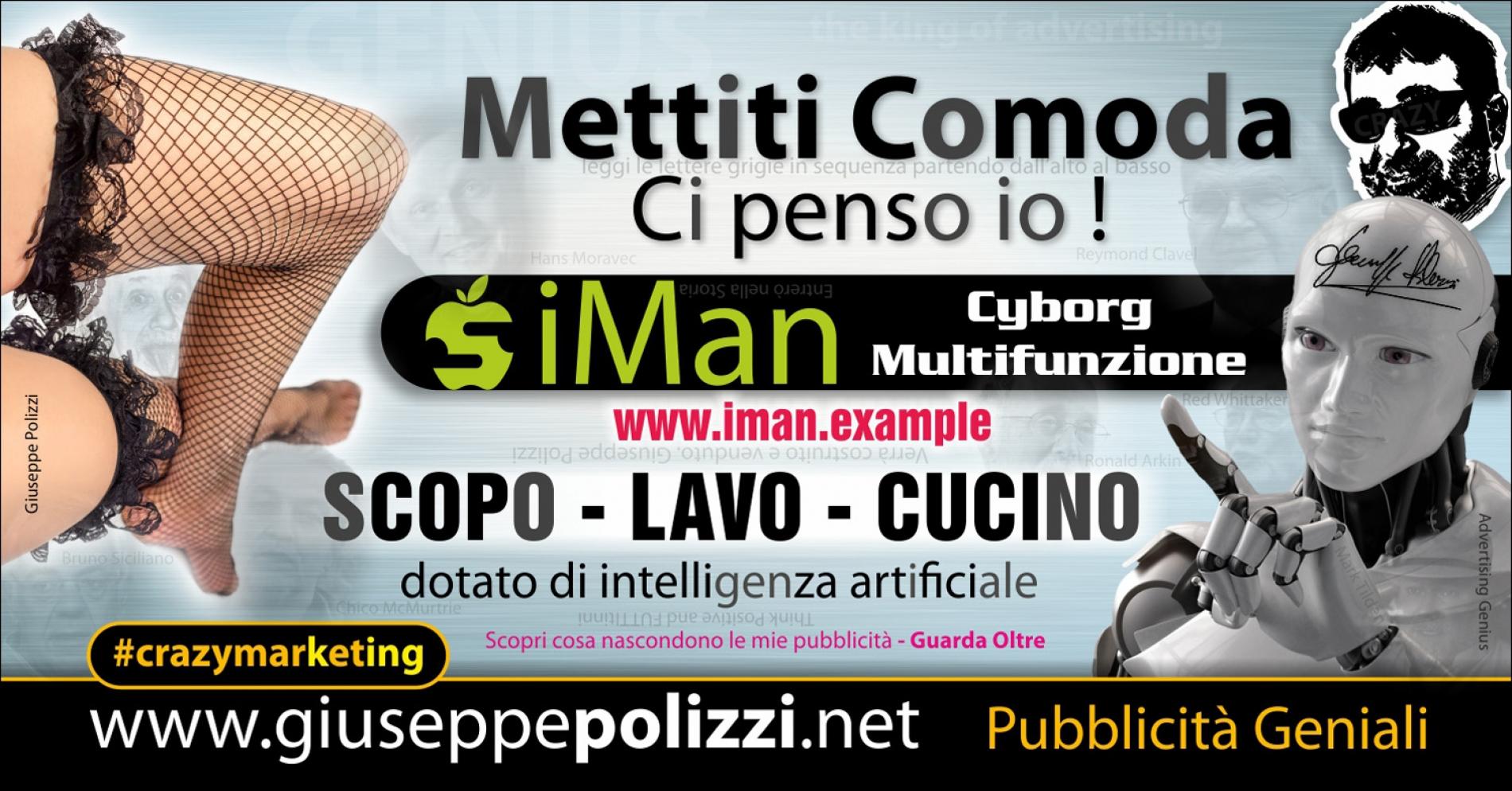 giuseppe Polizzi Mettiti Comoda crazymarketing pubblicita geniali