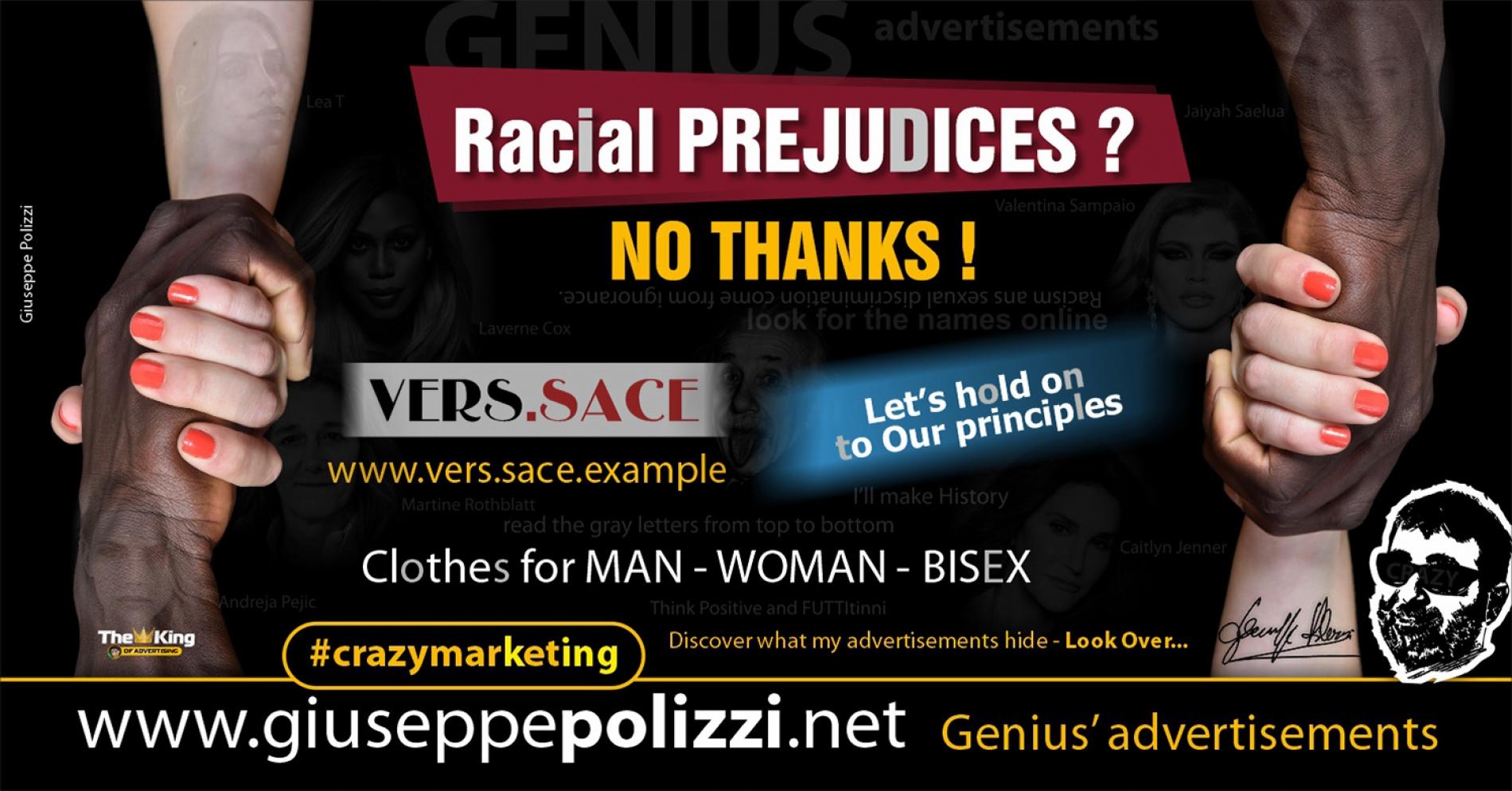 Giuseppe Polizzi Crazymarketing Racial Prejudices advertisements