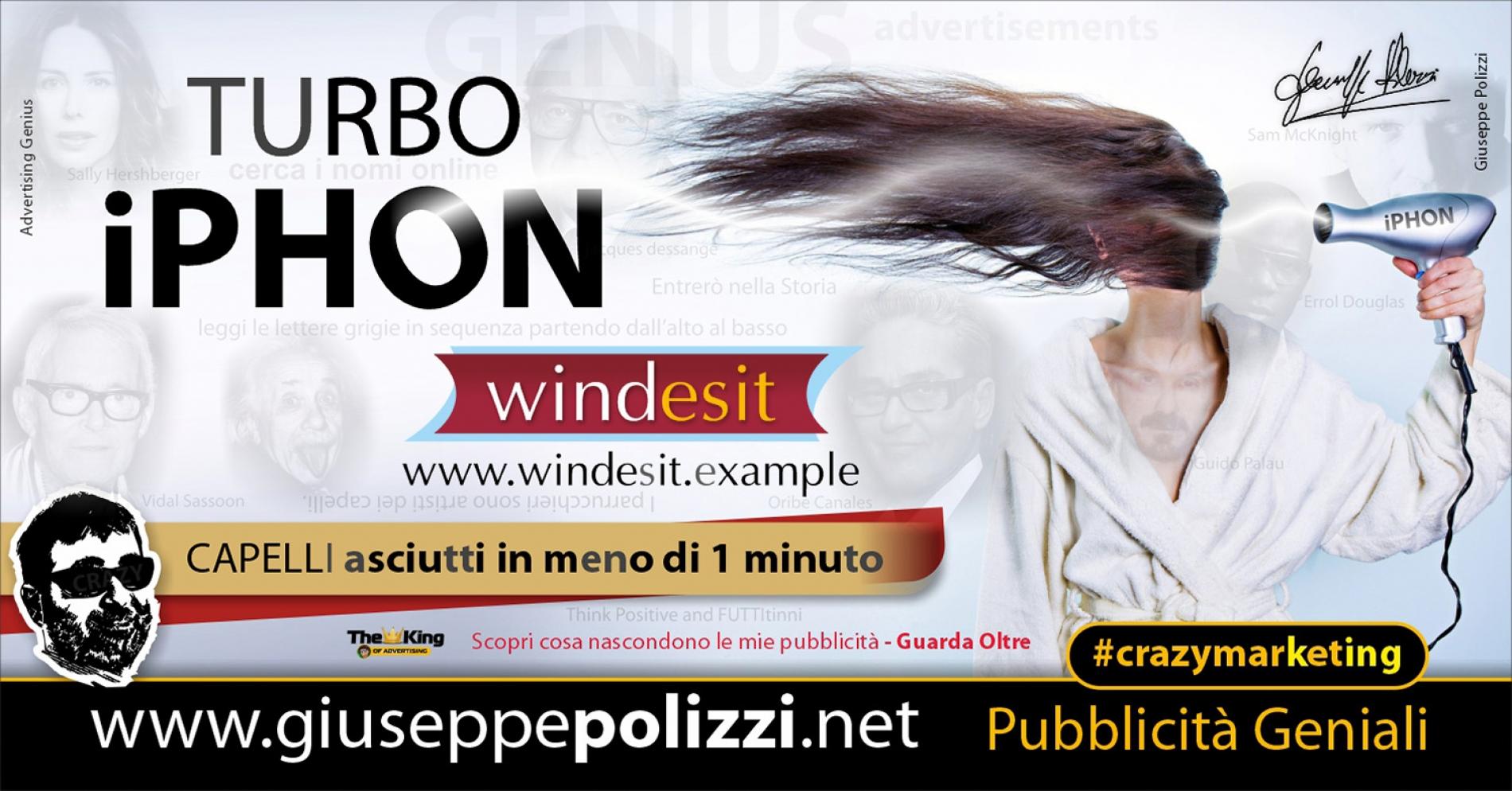 Giuseppe Polizzi Crazymarketing Turbo Iphon Pubblicità geniali