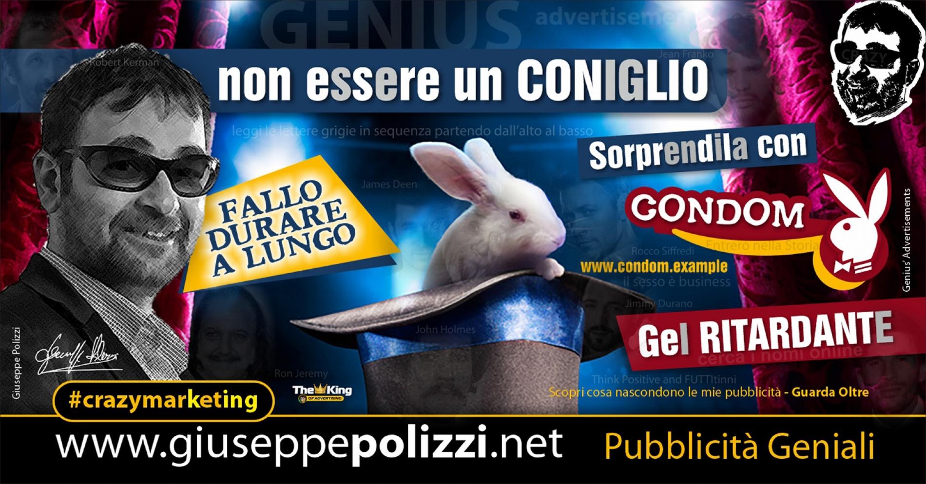 Giuseppe Polizzi crazymarketing Coniglio pubblicità geniali