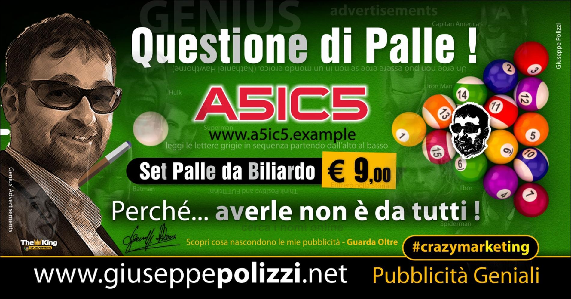 giuseppe Polizzi Questione di Palle crazymarketing pubblicita geniali