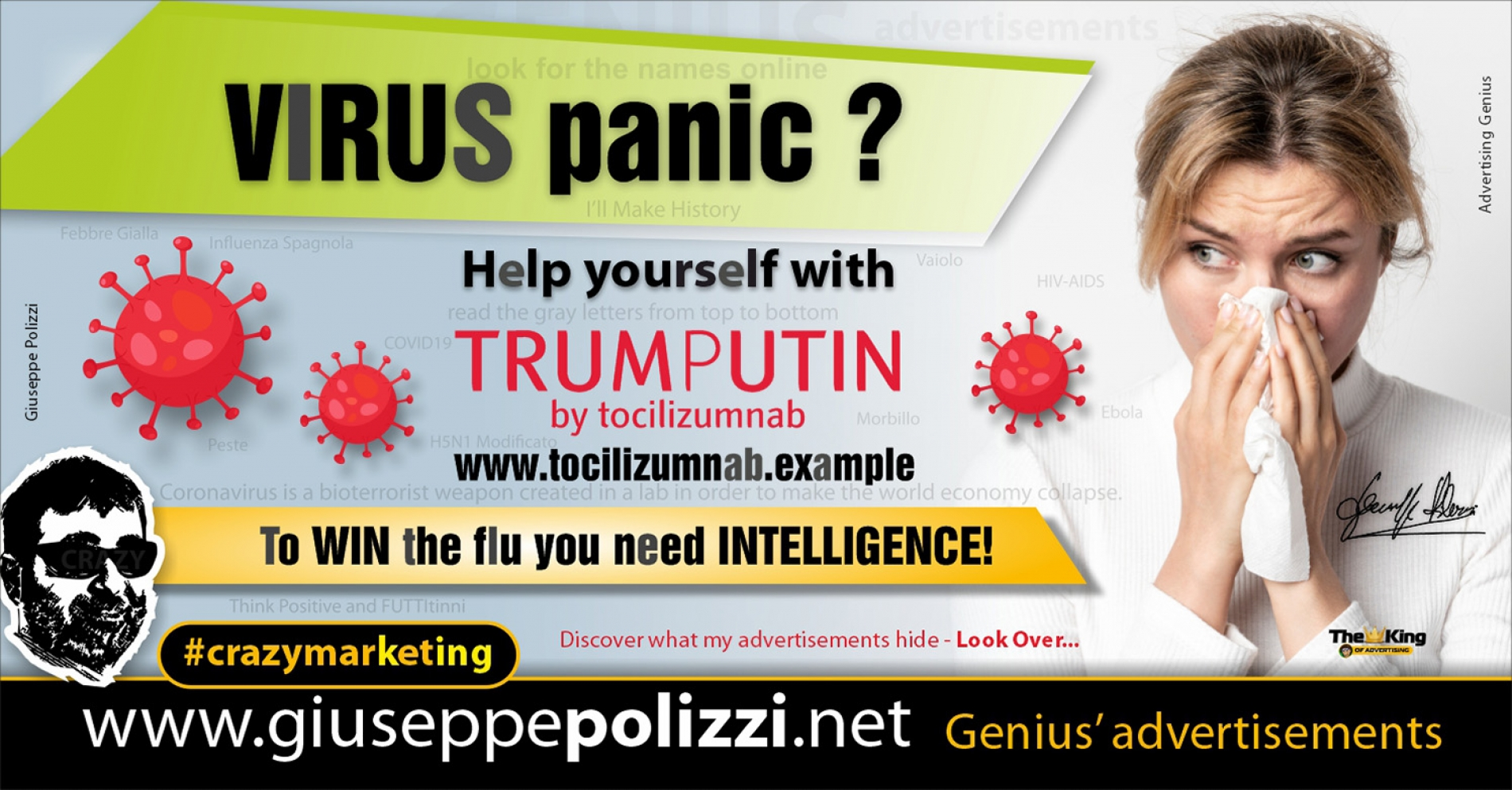Giuseppe Polizzi Crazymarketing Virus Panic advertisements