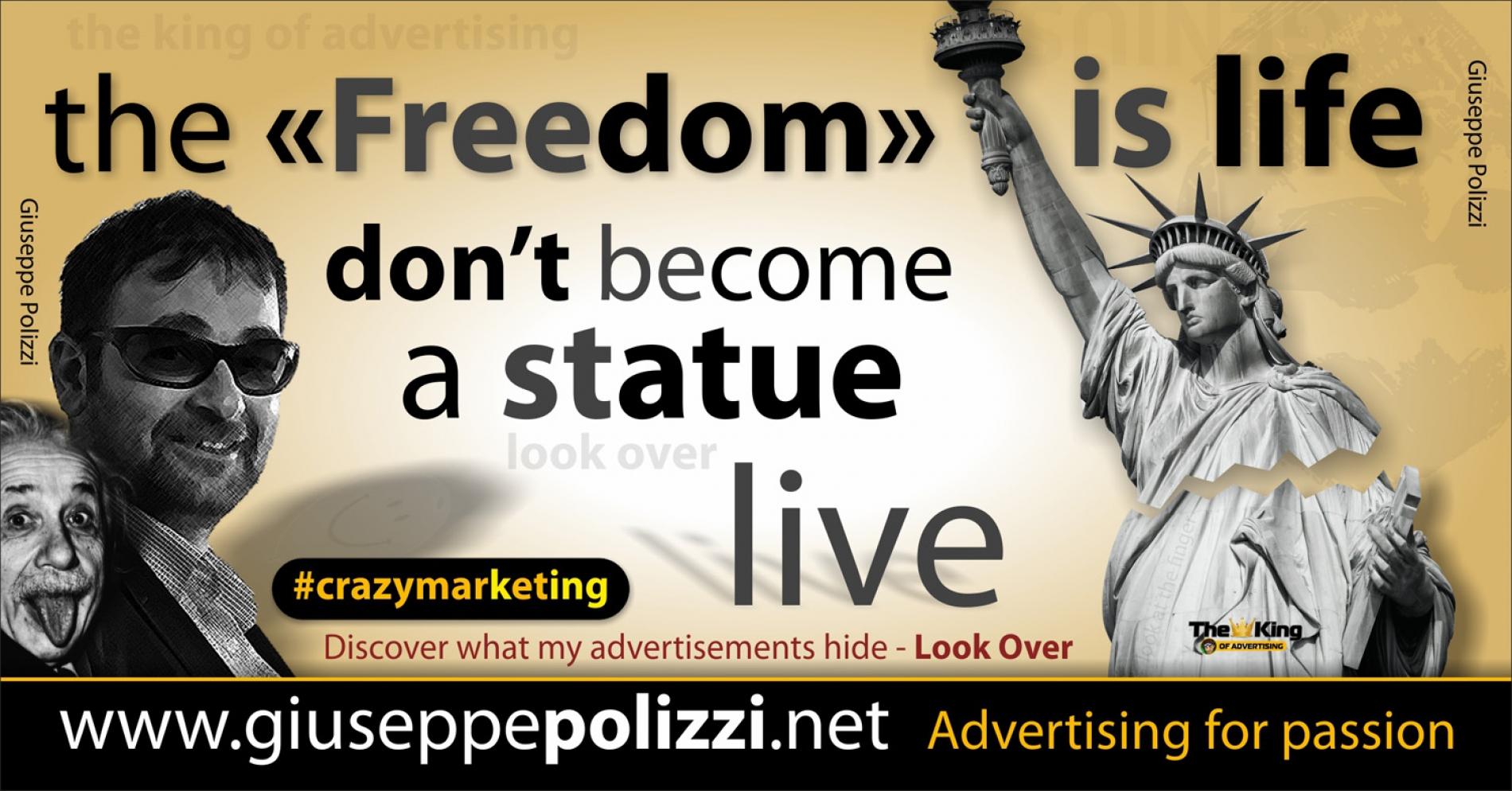giuseppe polizzi pubblicità 2016 crazy marketing statua liberta inglese