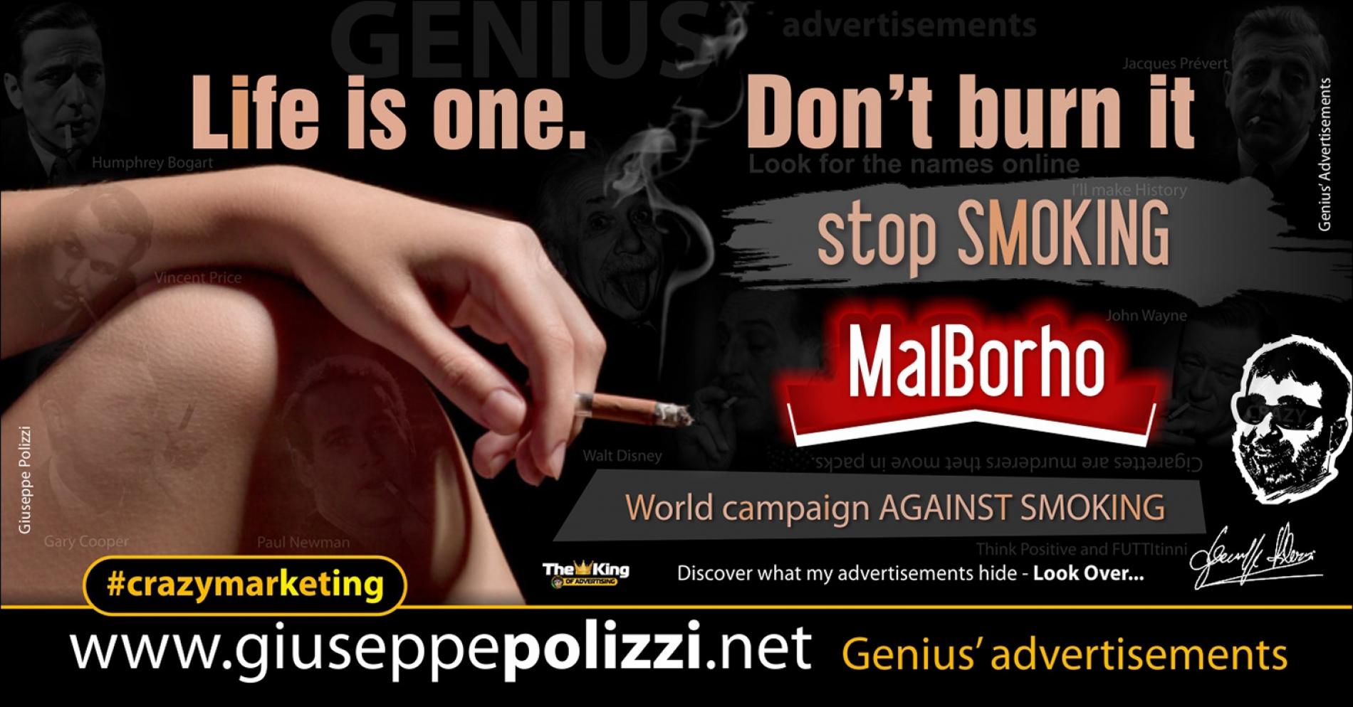 giuseppe polizzi crazymarketing Stop Smoking genius  2018 advertising