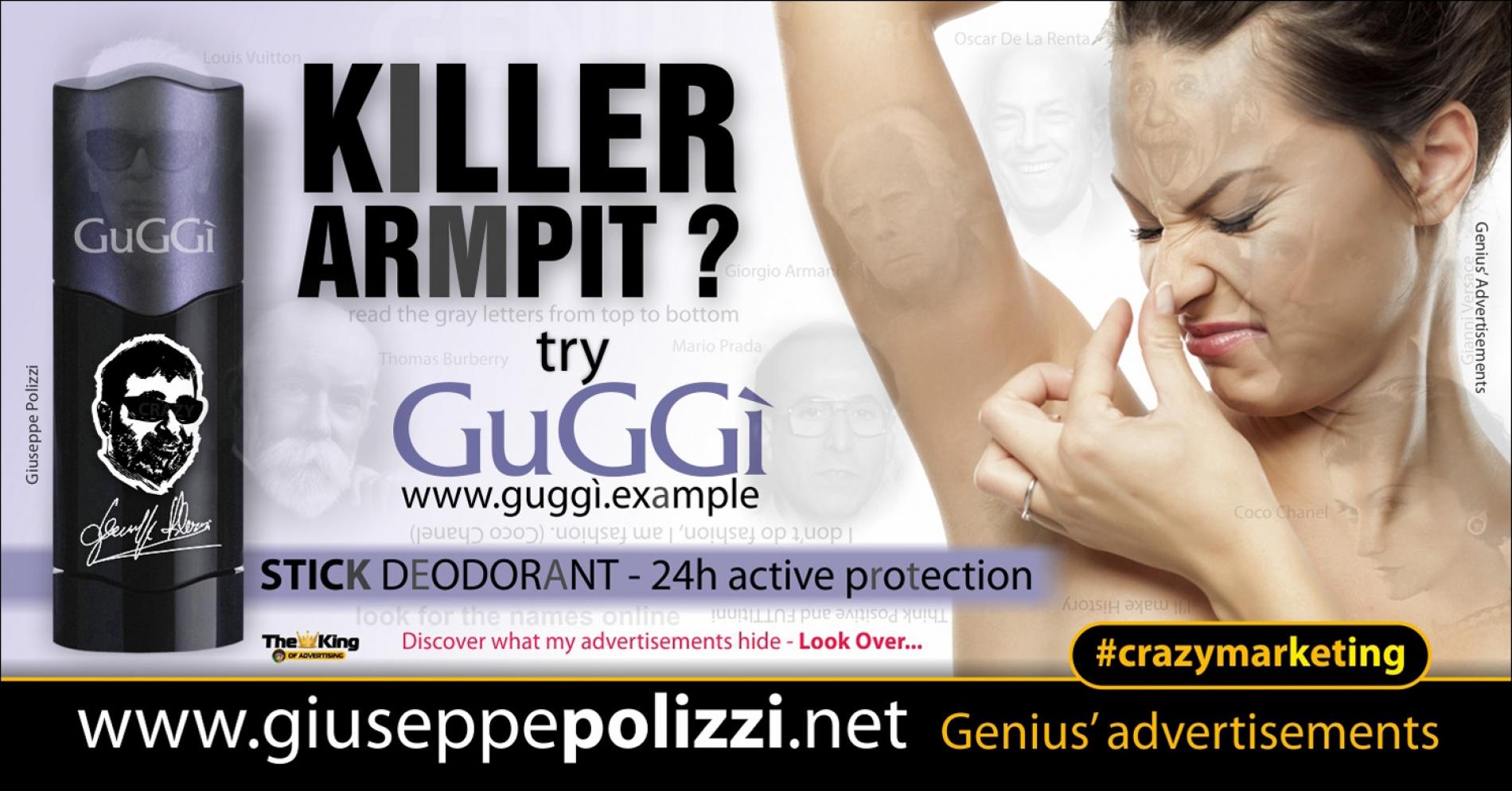 giuseppe Polizzi Killer Armpit crazymarketing pubblicita geniali ENG