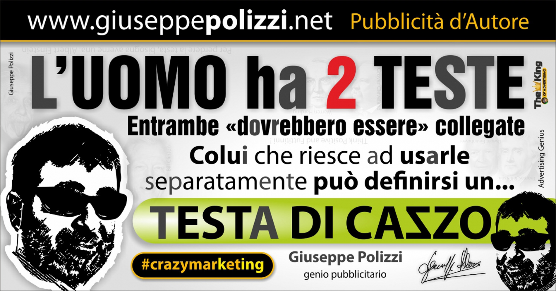 giuseppe polizzi aforismi usare la testa 2016 crazy marketing