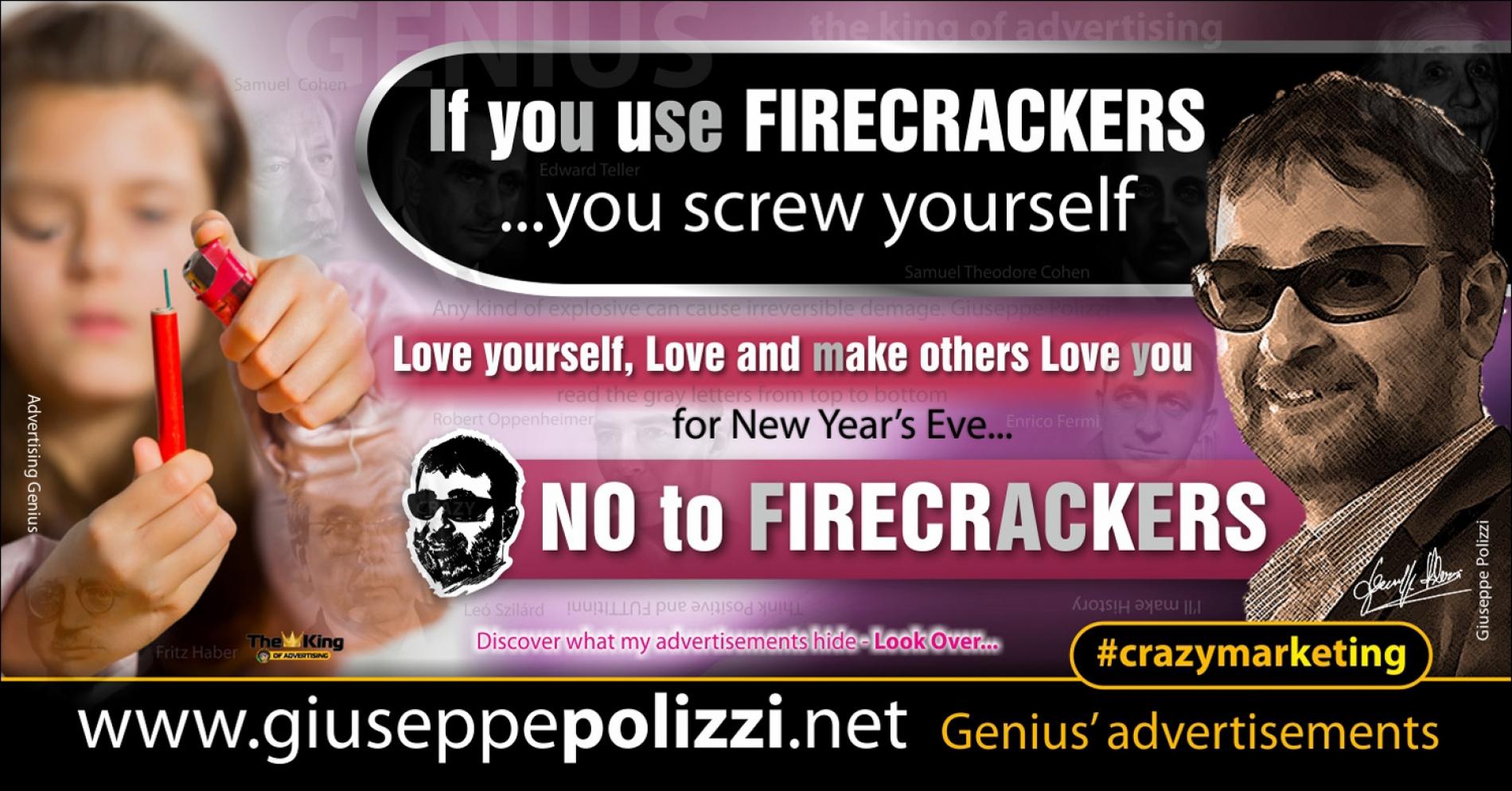 giuseppe Polizzi  No to FIRECRACKERS crazymarketing genius ing