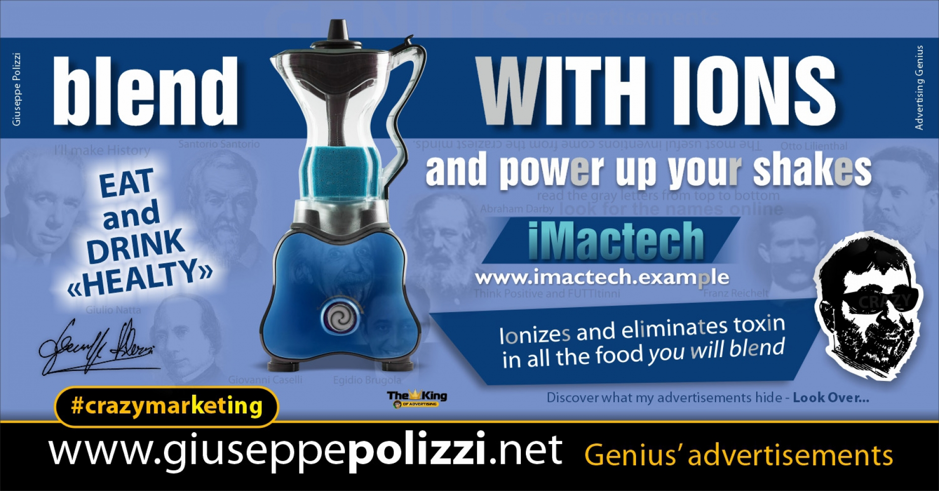 Giuseppe Polizzi Crazymarketing Blend with Ions advertisements