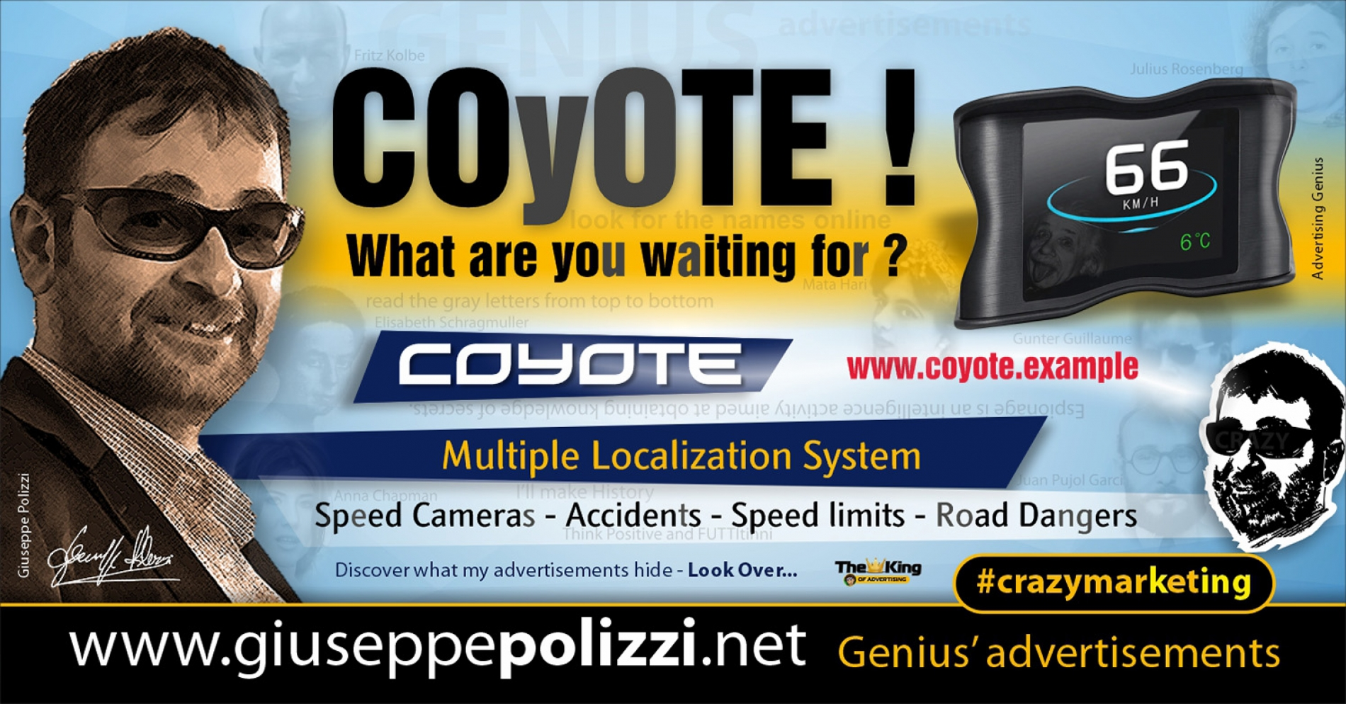 Giuseppe Polizzi Crazymarketing COYOTE advertisements