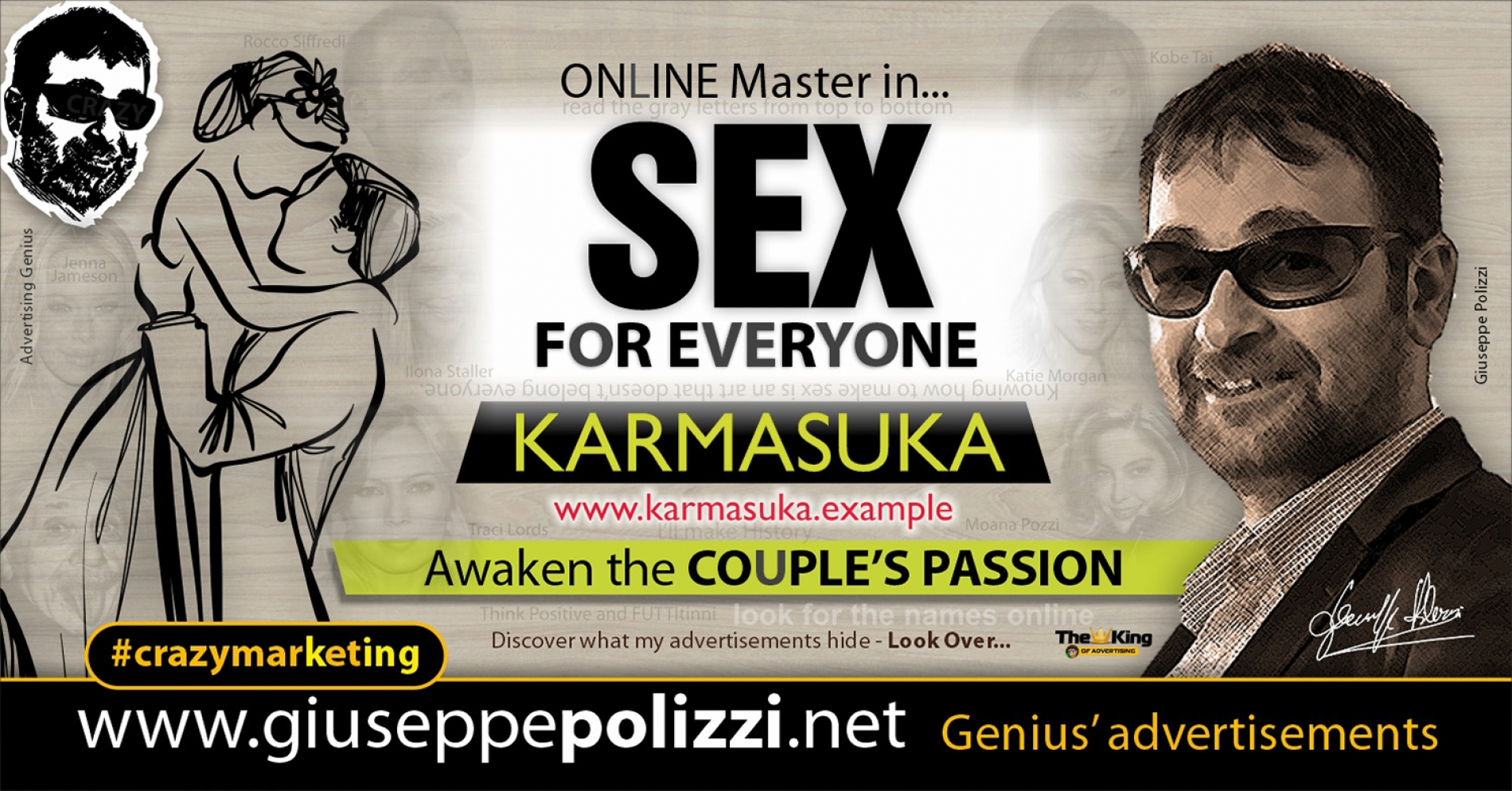 Giuseppe Polizzi Crazymarketing SEX for Everyone advertisements eng
