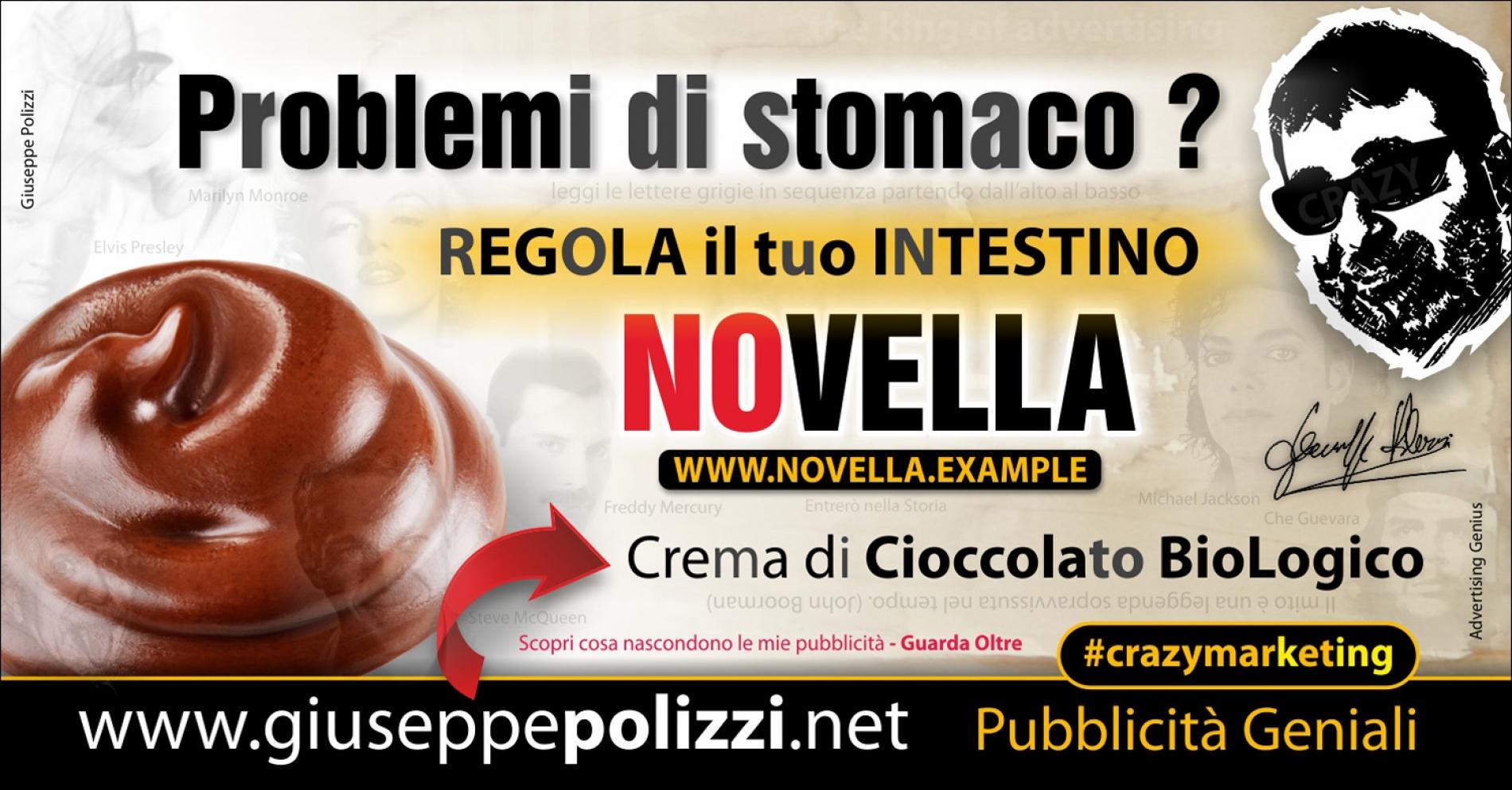 giuseppe Polizzi pubblicita NOvella crazymarketing genius