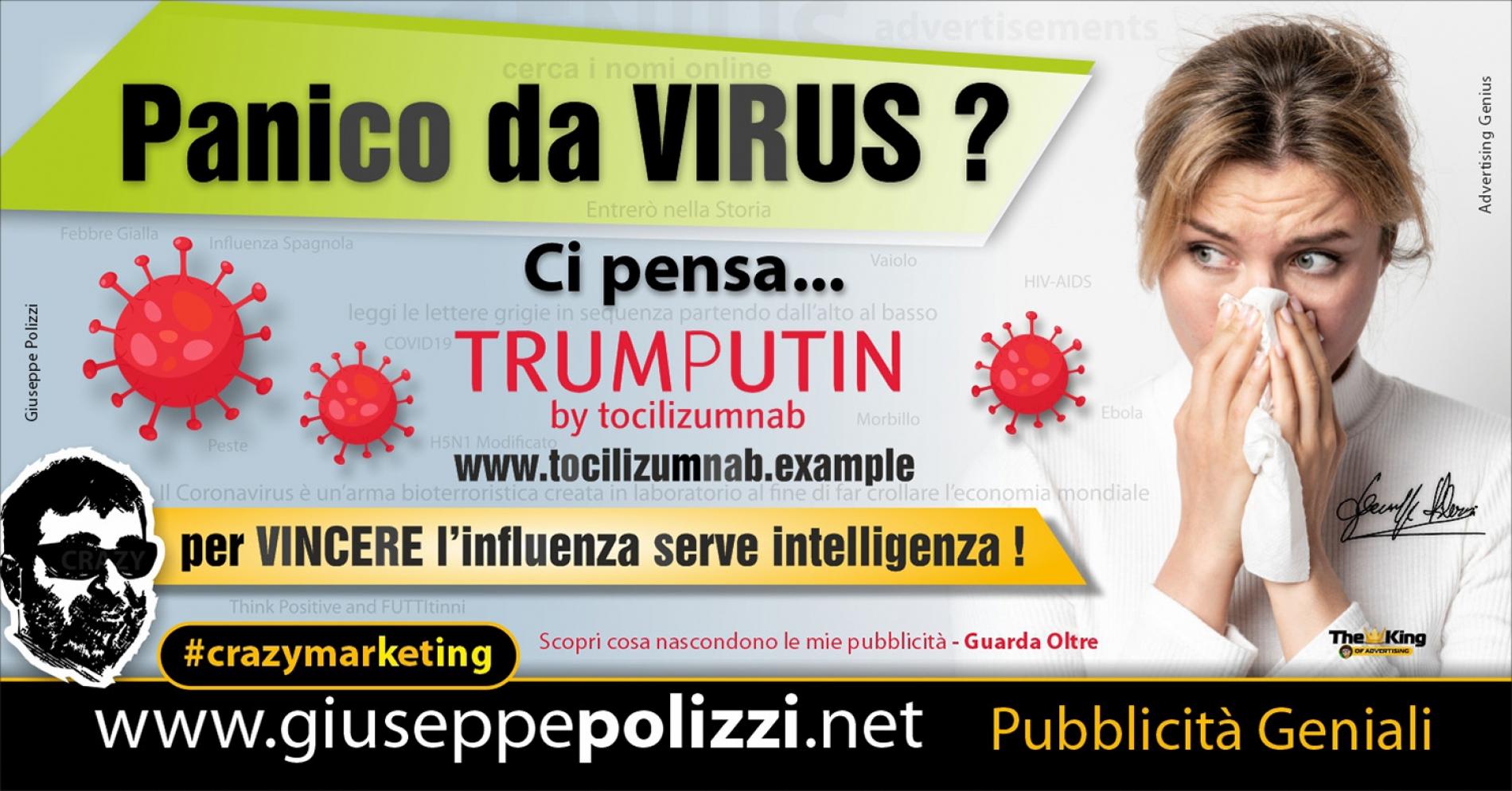 Giuseppe Polizzi Crazymarketing Panico da Virus Pubblicità geniali