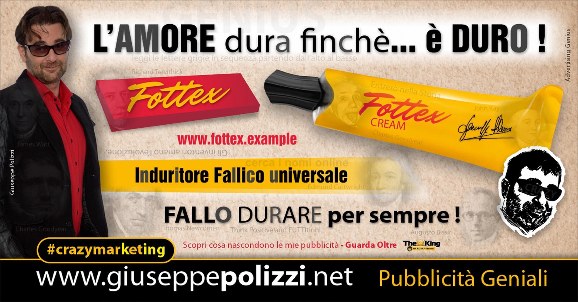 Giuseppe Polizzi Crazymarketing L'amore DURA finchè è DURO pubblicità geniali
