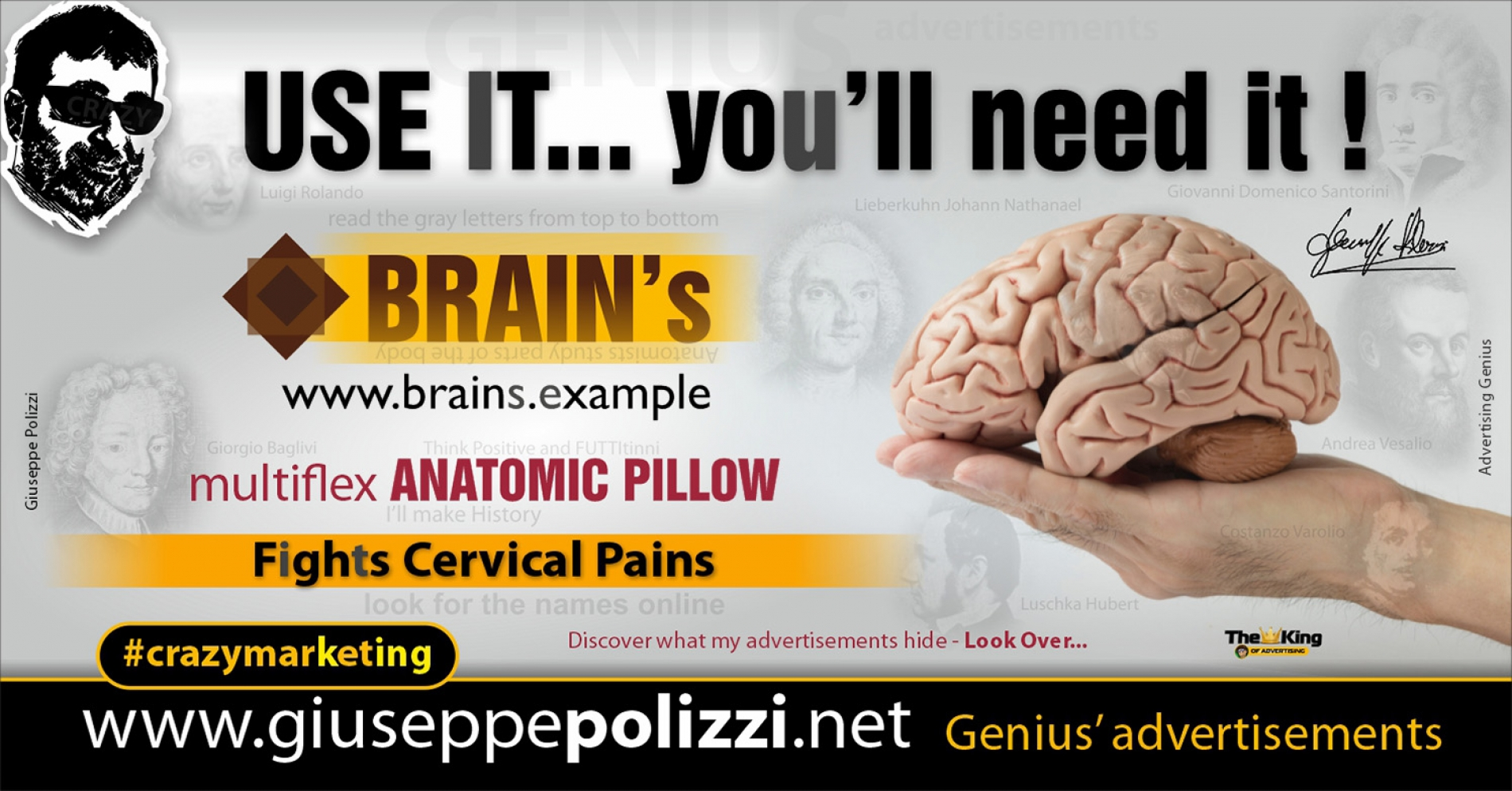Giuseppe Polizzi Crazymarketing Use it advertisements