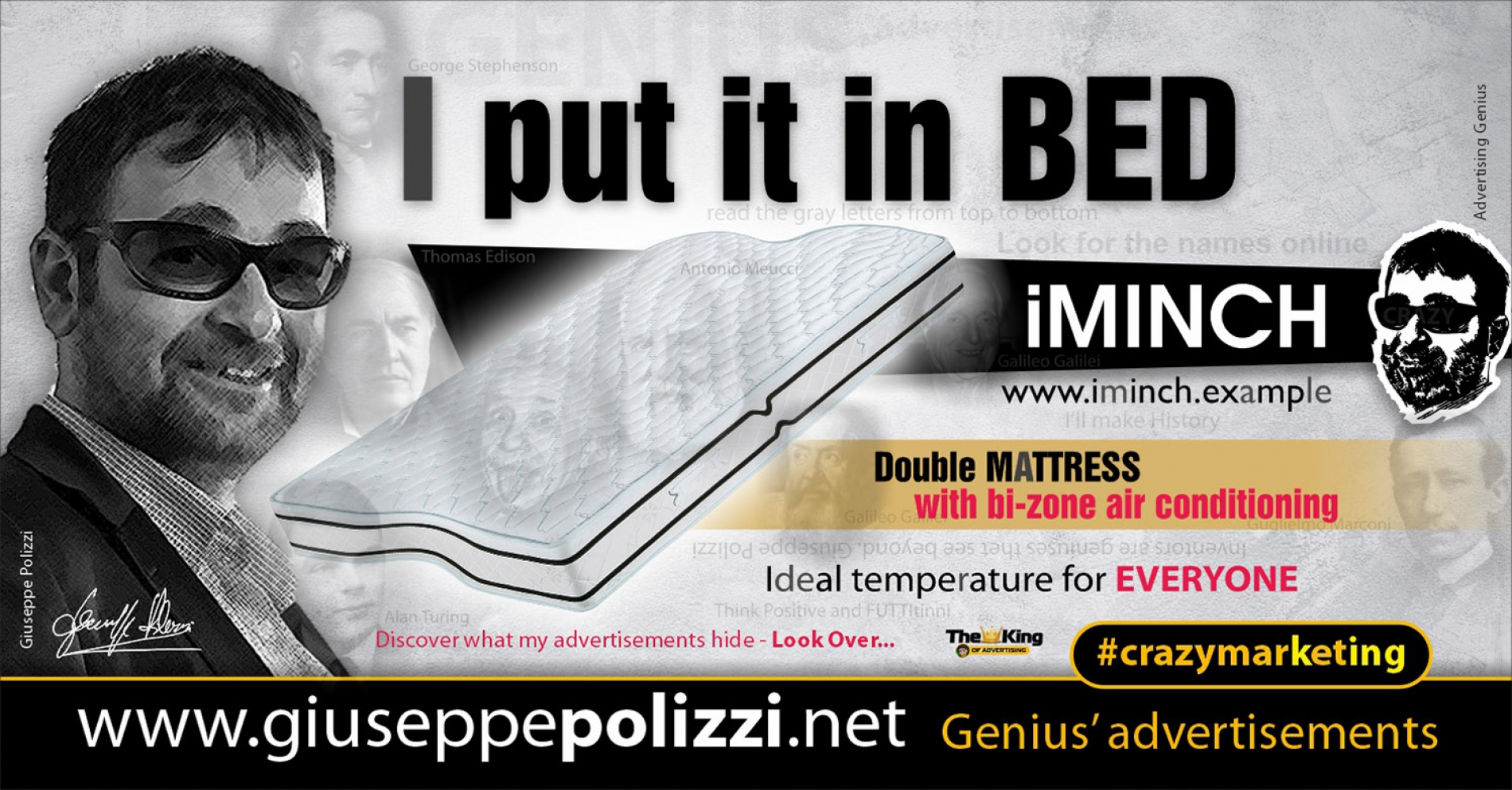 Giuseppe Polizzi CrazymarketingI put it in BED advertisements eng