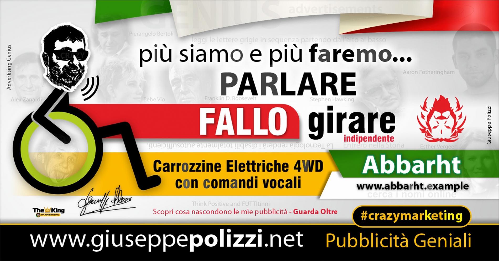 Giuseppe Polizzi Crazymarketing FALLO GIRARE pubblicità geniali