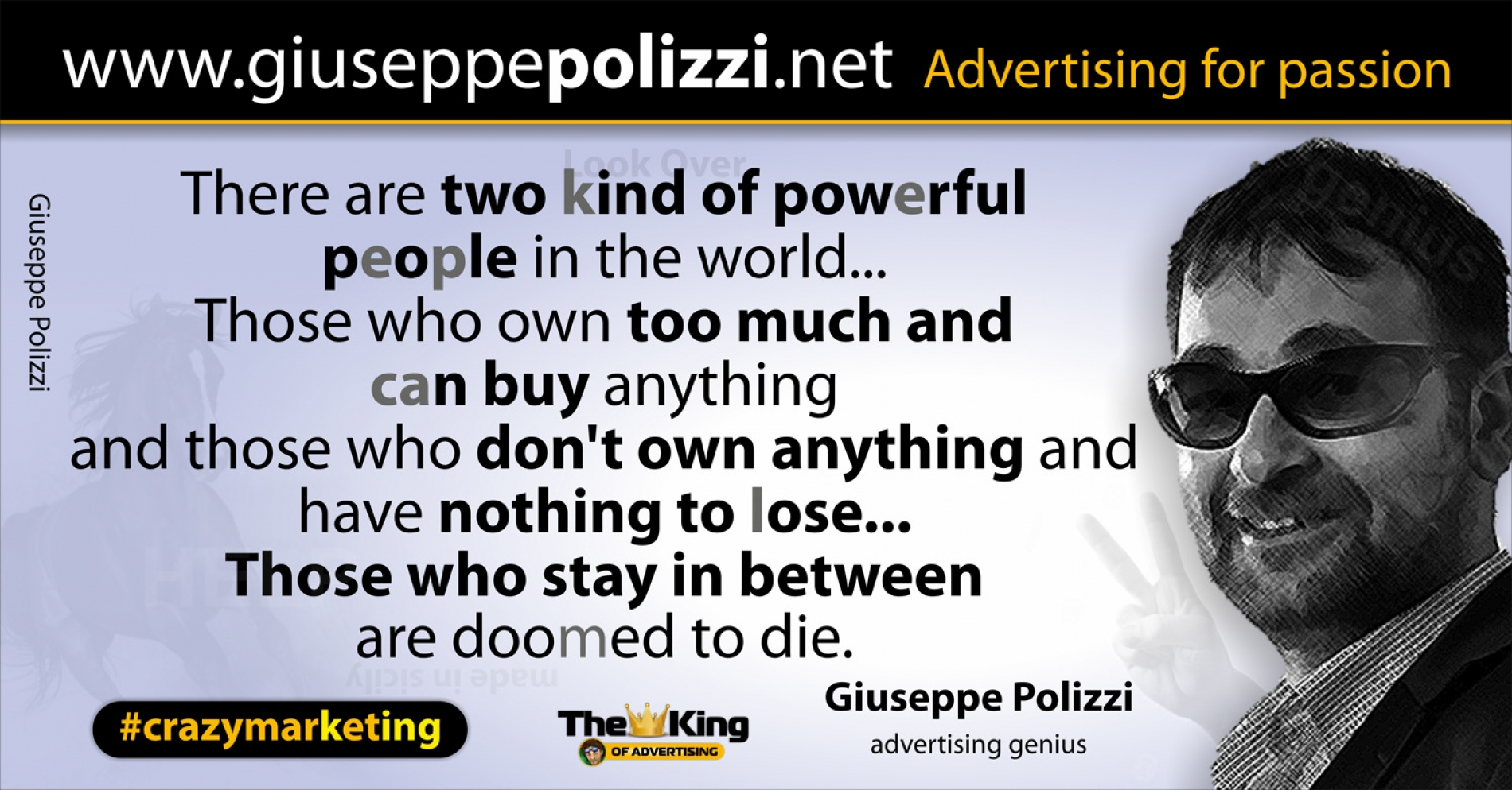 giuseppe polizzi aforismi potenza 2016 crazymarketing inglese