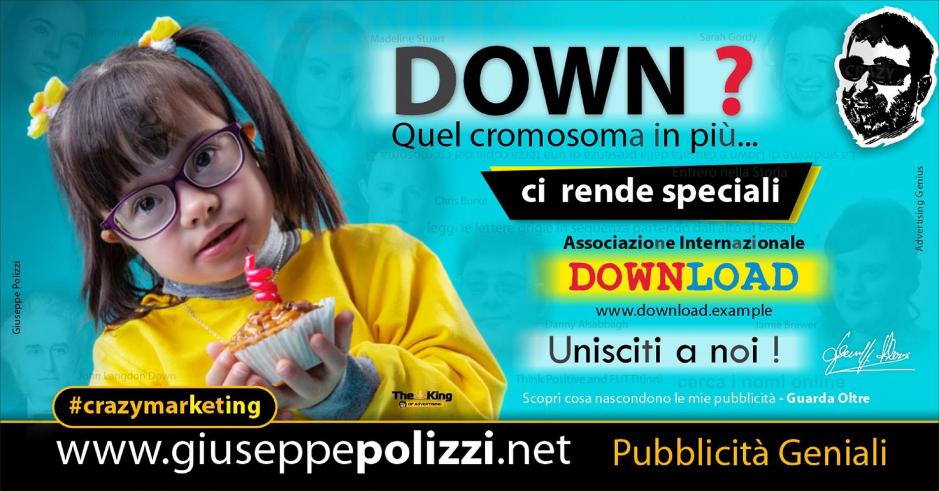 Giuseppe Polizzi crazymarketing DOWN pubblicità geniali