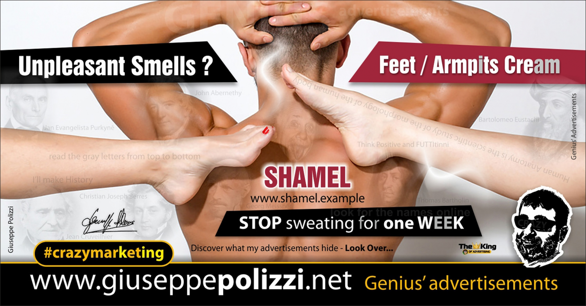giuseppe polizzi crazymarketing Unpleasant Smells genius advertisements