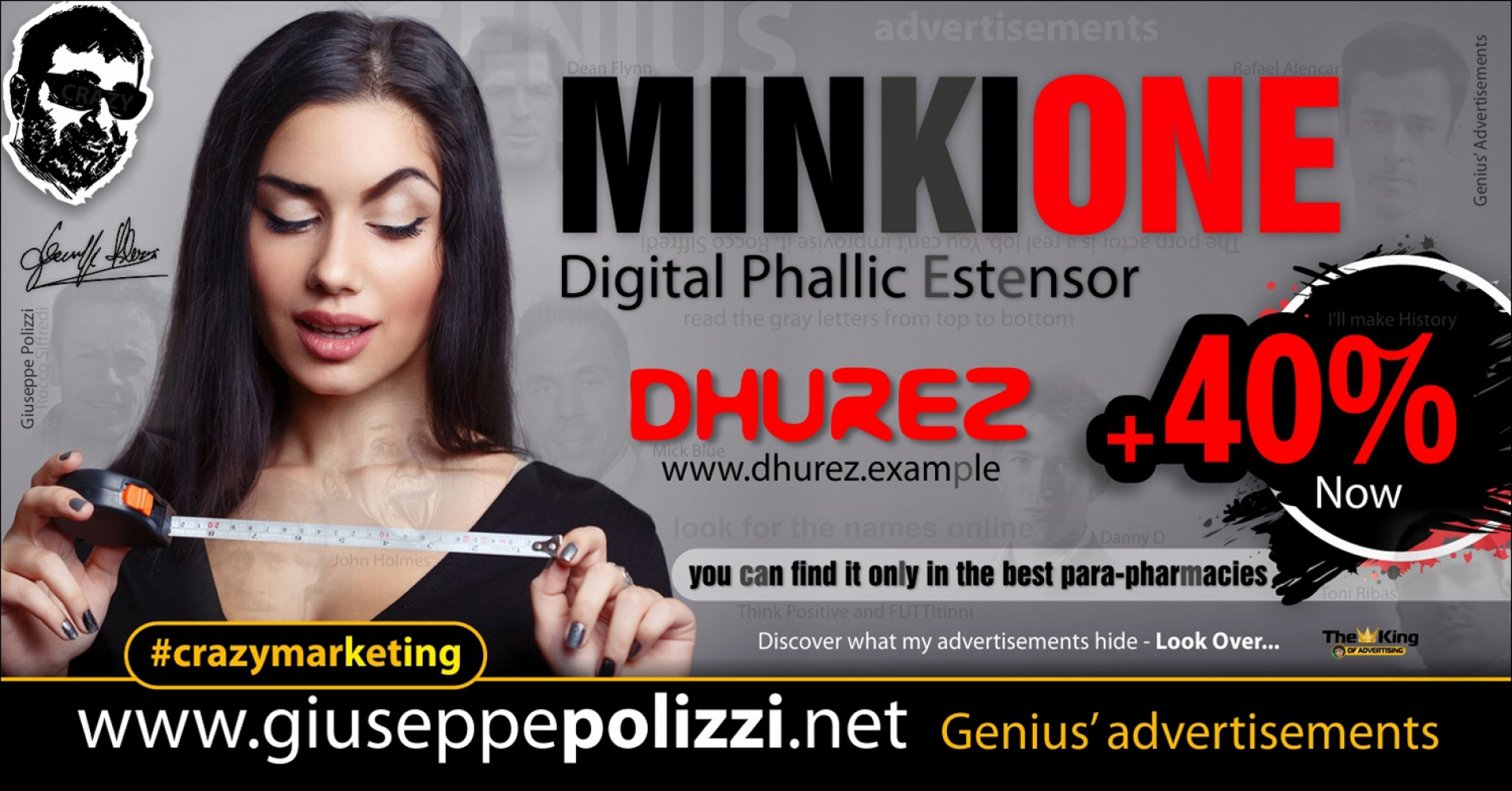 giuseppe polizzi crazymarketing MinkiOne genius  2018 advertising