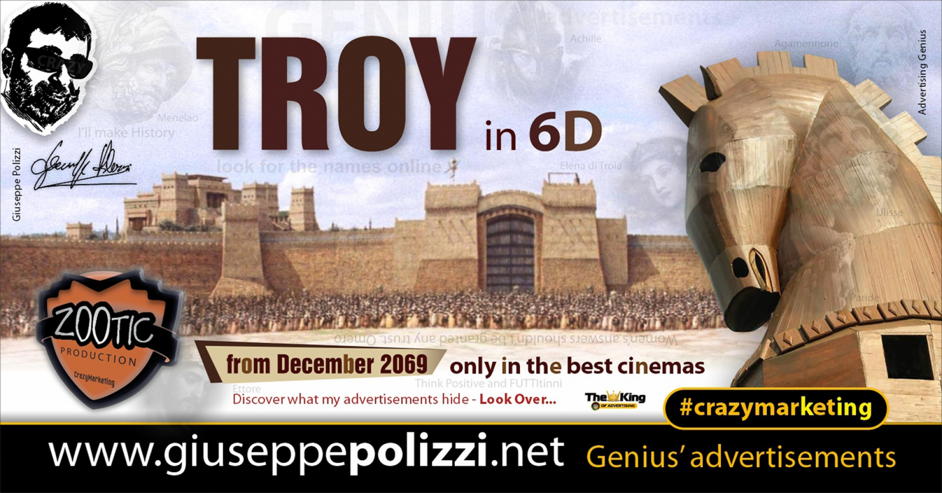 Giuseppe Polizzi Crazymarketing TROY advertisements eng