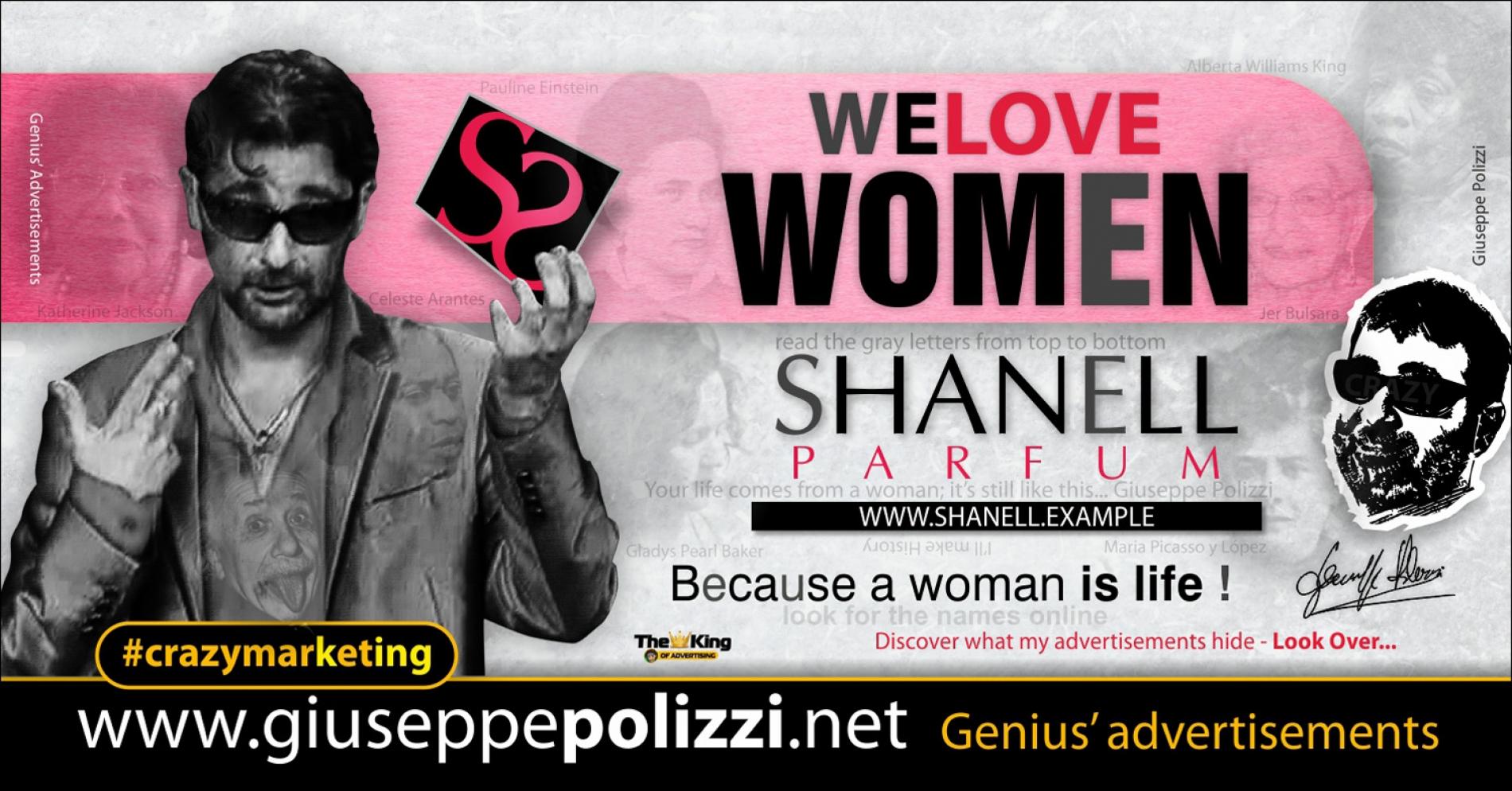 giuseppe Polizzi We LOVE women crazymarketing genius ing