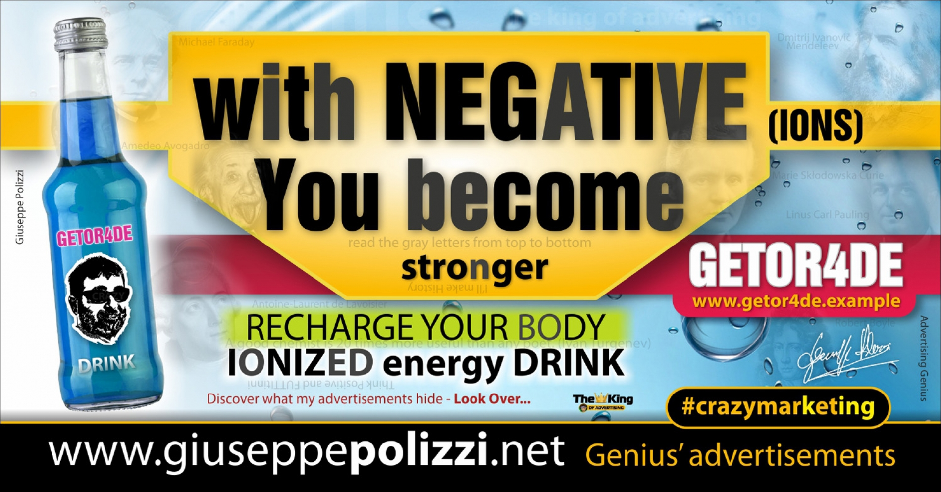 giuseppe Polizzi  With NEGATIVE you BECOME  crazymarketing genius ing