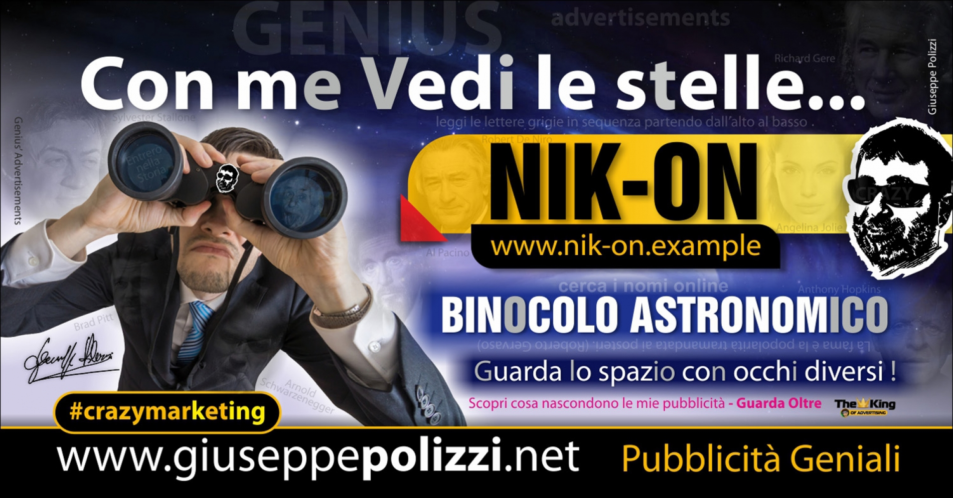 giuseppe Polizzi con me vedi le stelle crazymarketing pubblicita geniali